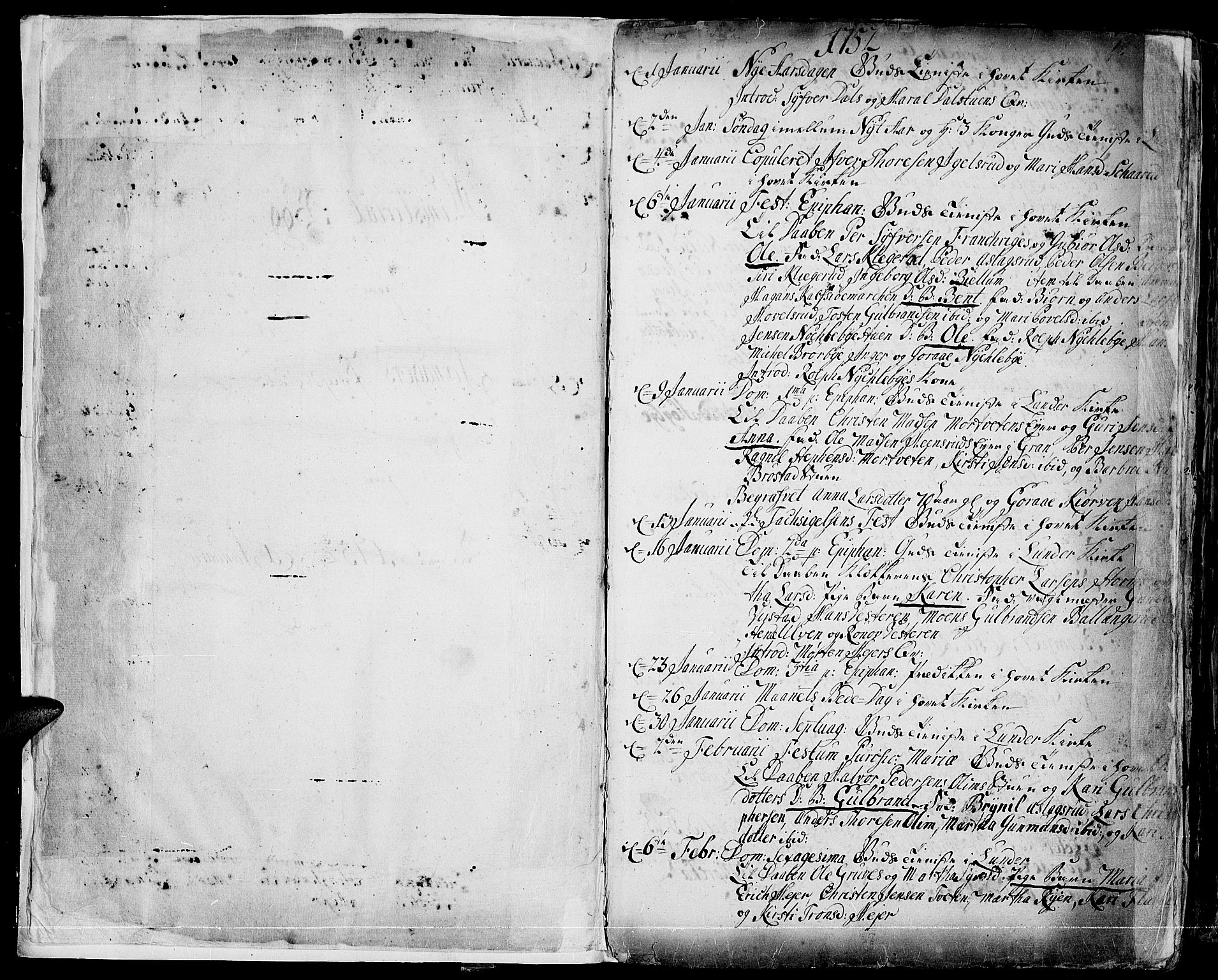 SAH, Jevnaker prestekontor, Ministerialbok nr. 3, 1752-1799, s. 0-1