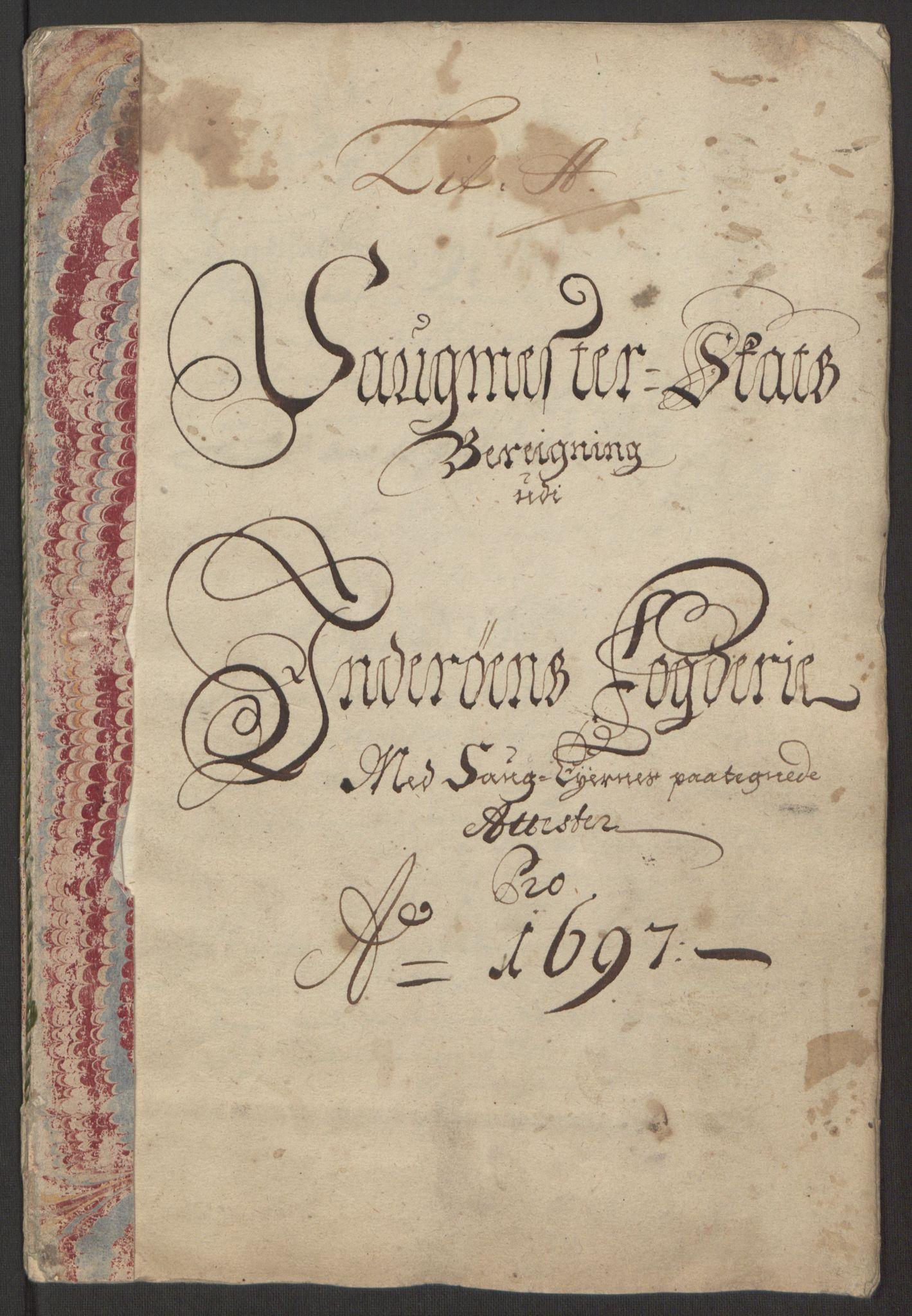 RA, Rentekammeret inntil 1814, Reviderte regnskaper, Fogderegnskap, R63/L4309: Fogderegnskap Inderøy, 1695-1697, s. 389