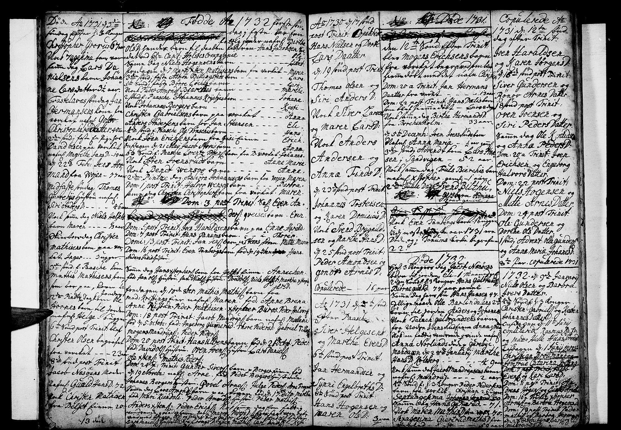 SAO, Asker prestekontor Kirkebøker, F/Fa/L0001: Ministerialbok nr. I 1, 1726-1744, s. 18