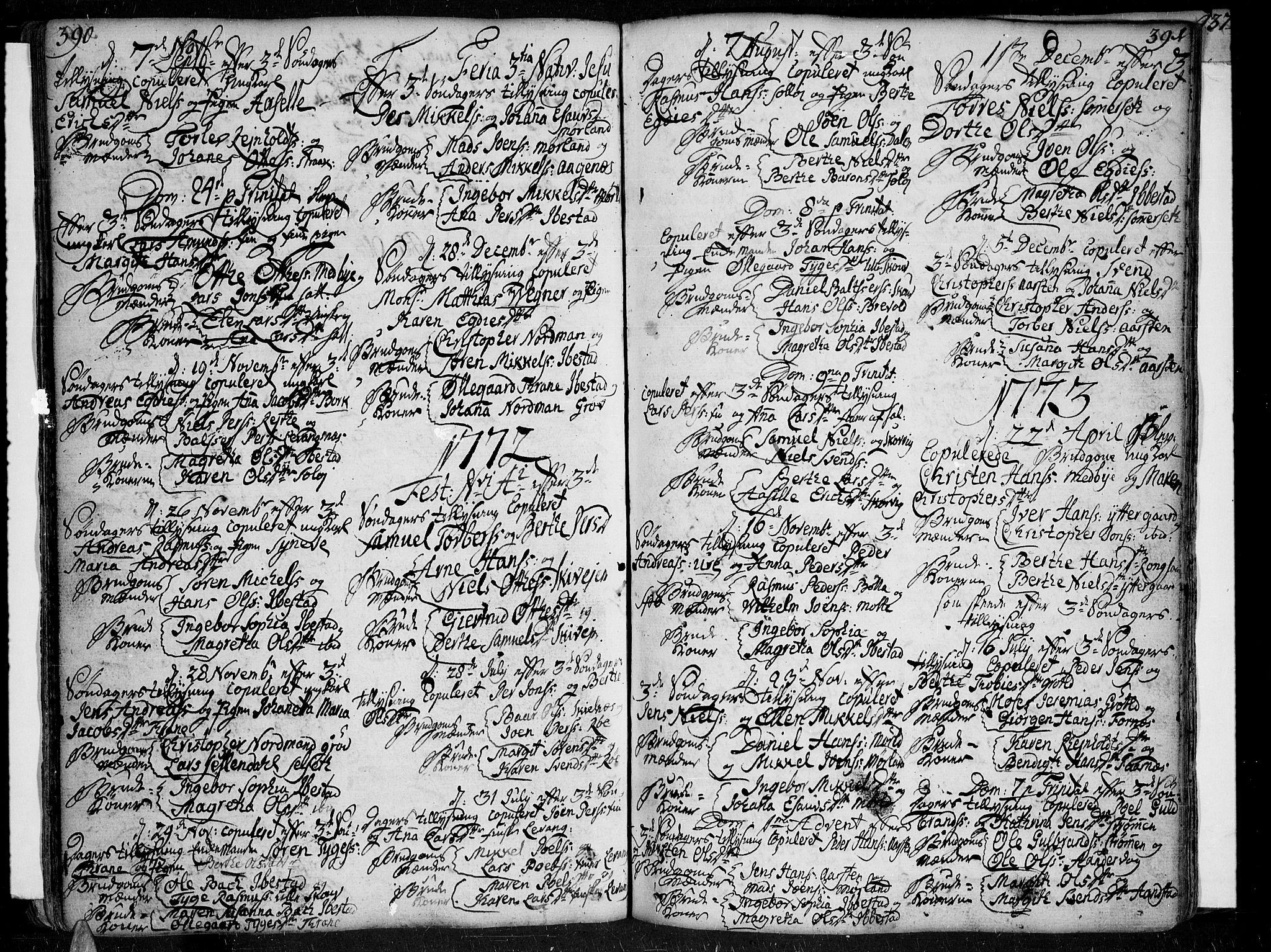 SATØ, Ibestad sokneprestembete, Ministerialbok nr. 2, 1751-1775, s. 390-391