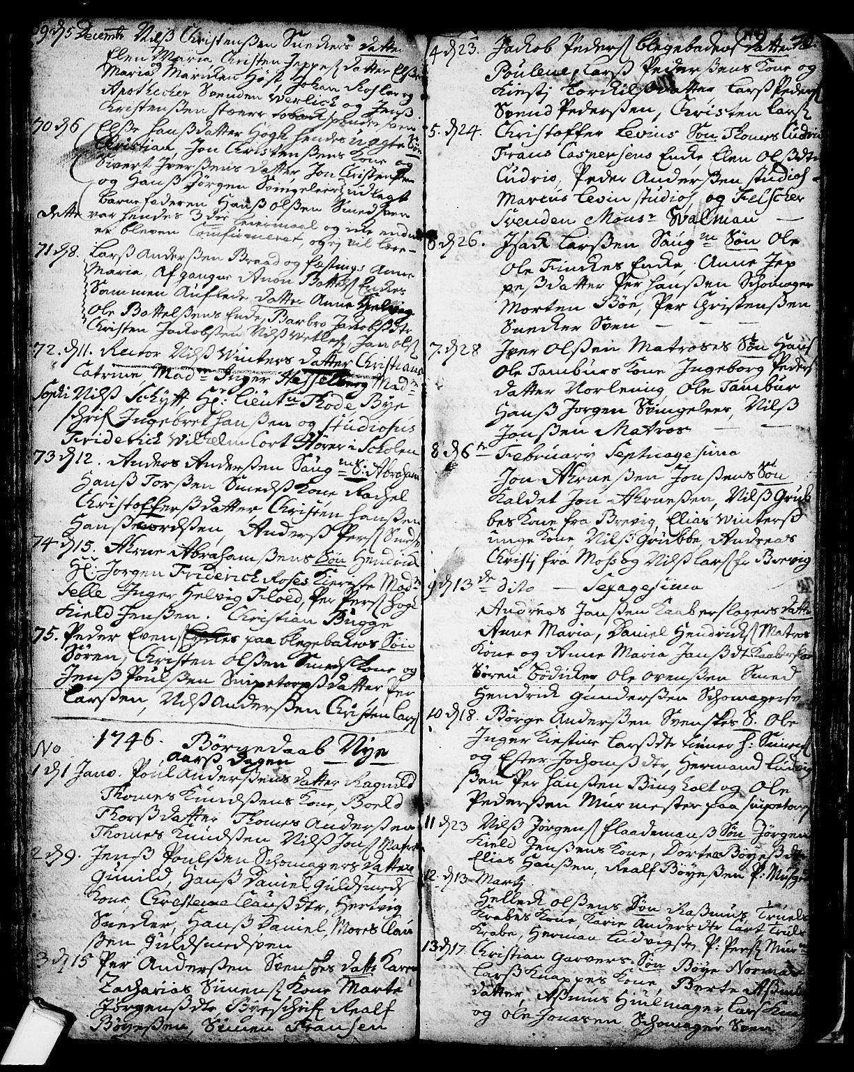 SAKO, Skien kirkebøker, F/Fa/L0002: Ministerialbok nr. 2, 1716-1757, s. 144
