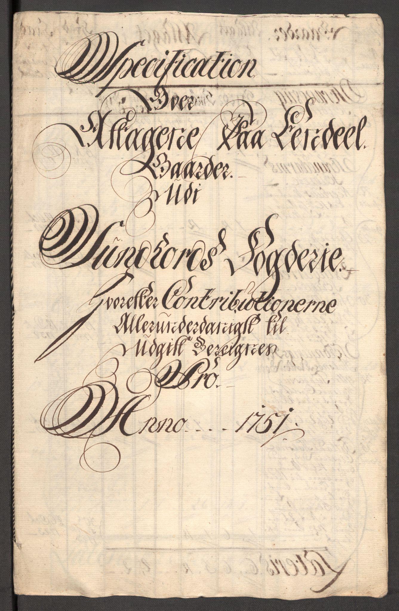 RA, Rentekammeret inntil 1814, Reviderte regnskaper, Fogderegnskap, R48/L3056: Fogderegnskap Sunnhordland og Hardanger, 1751, s. 433