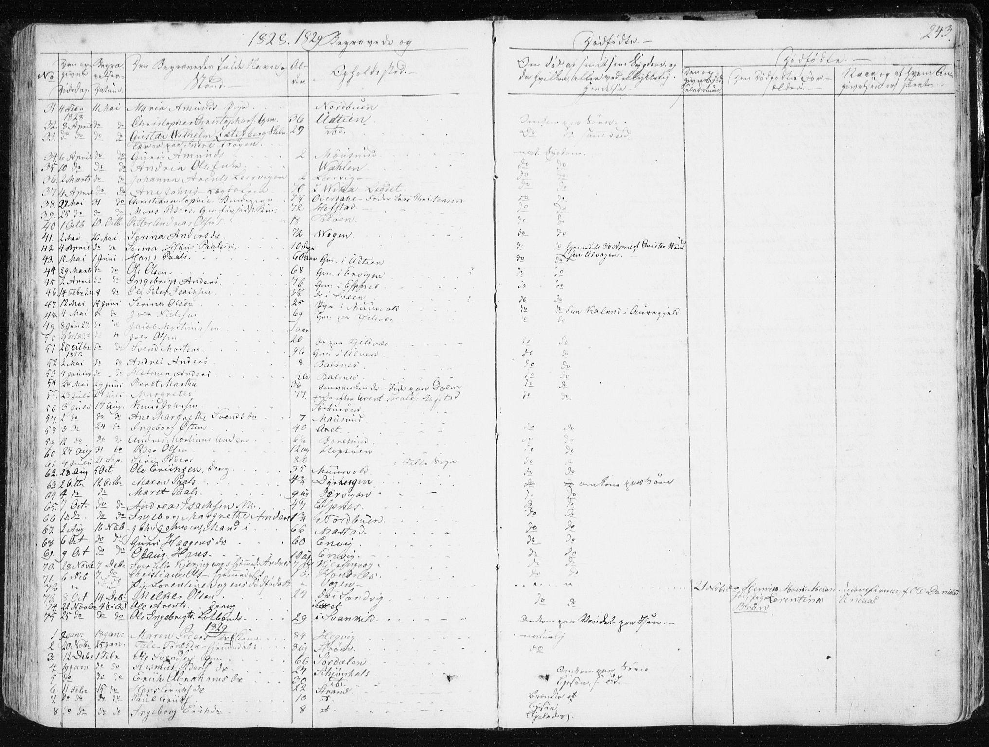SAT, Ministerialprotokoller, klokkerbøker og fødselsregistre - Sør-Trøndelag, 634/L0528: Ministerialbok nr. 634A04, 1827-1842, s. 243