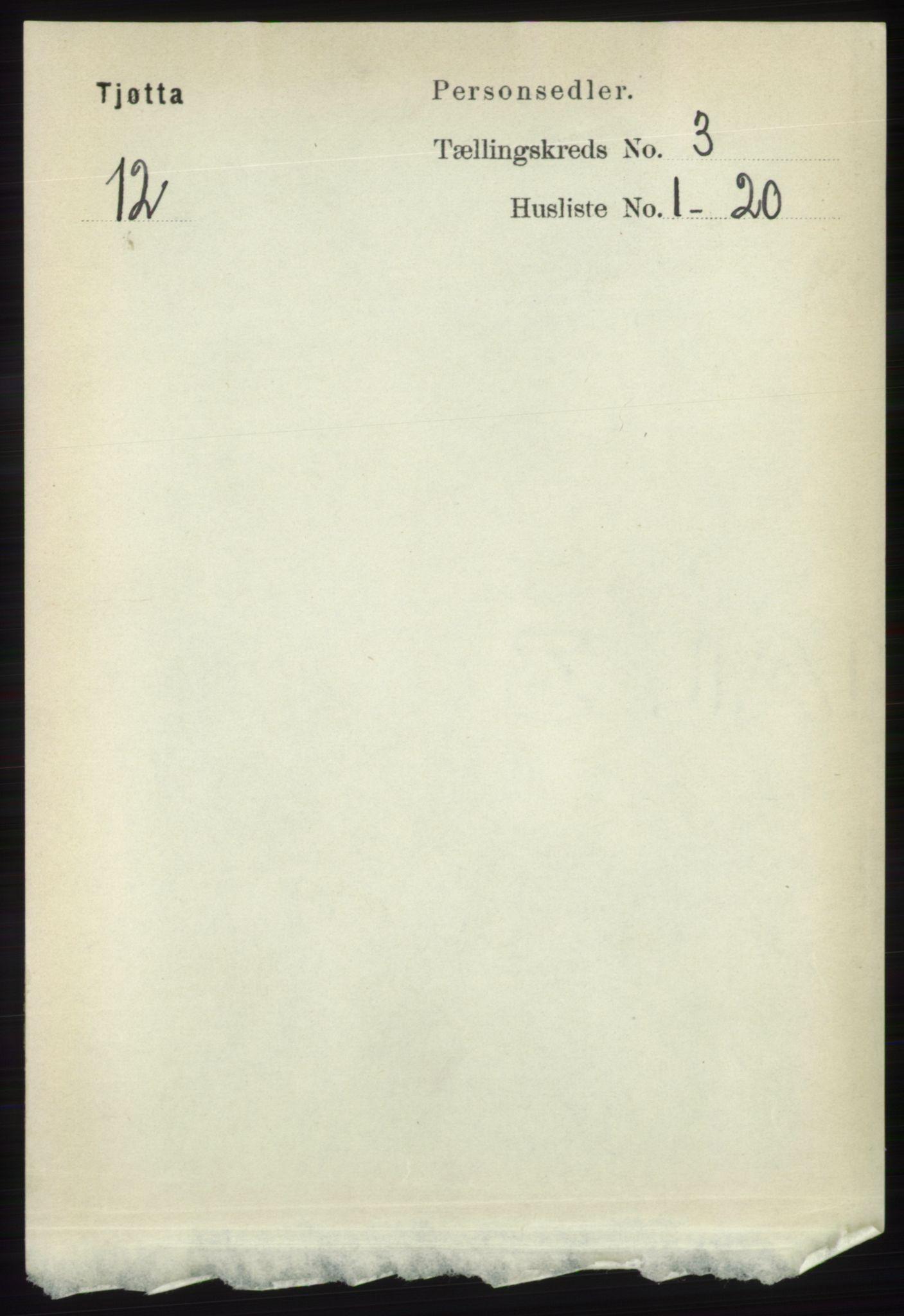 RA, Folketelling 1891 for 1817 Tjøtta herred, 1891, s. 1405