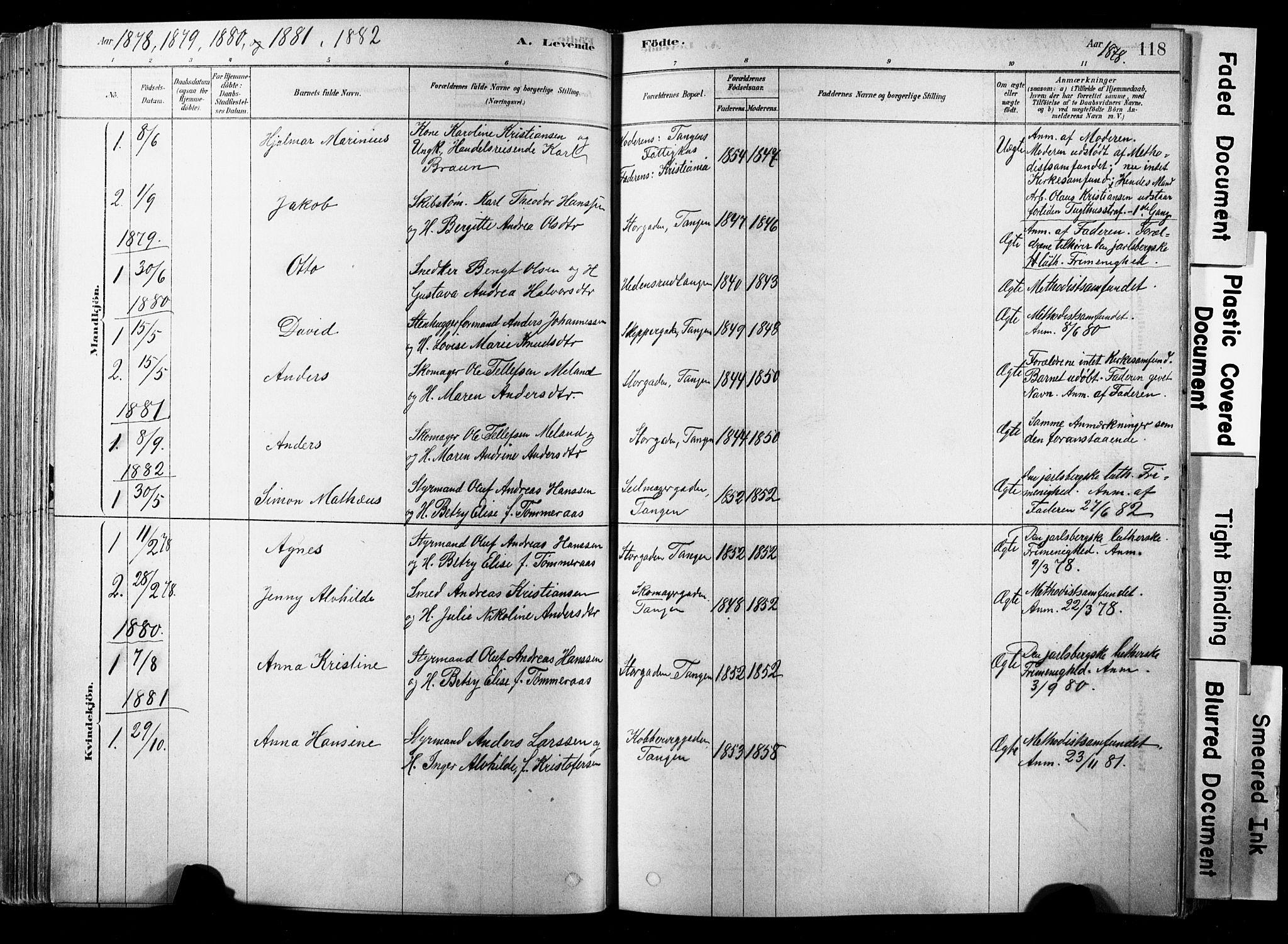 SAKO, Strømsø kirkebøker, F/Fb/L0006: Ministerialbok nr. II 6, 1879-1910, s. 118