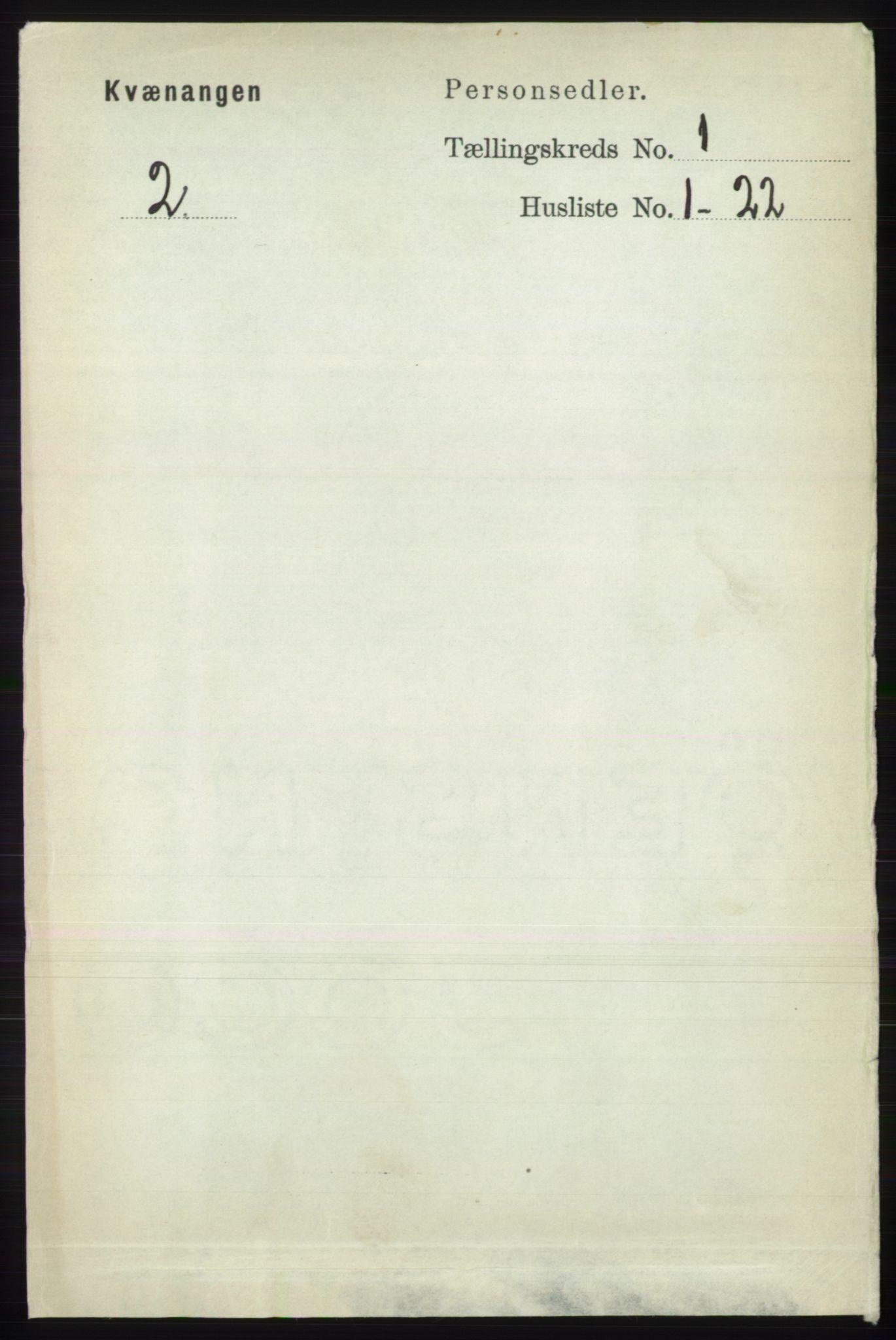 RA, Folketelling 1891 for 1943 Kvænangen herred, 1891, s. 54