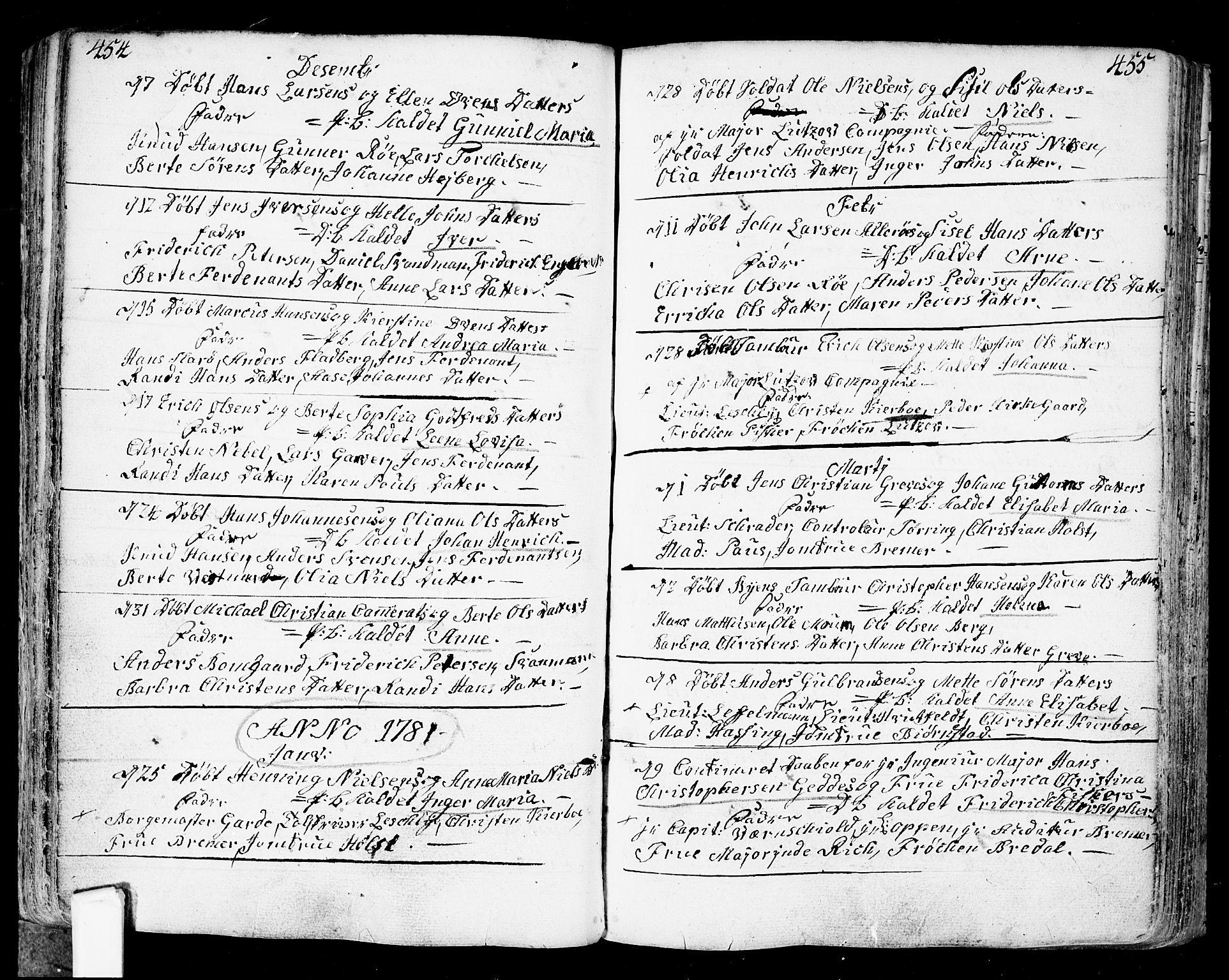 SAO, Fredrikstad prestekontor Kirkebøker, F/Fa/L0002: Ministerialbok nr. 2, 1750-1804, s. 454-455