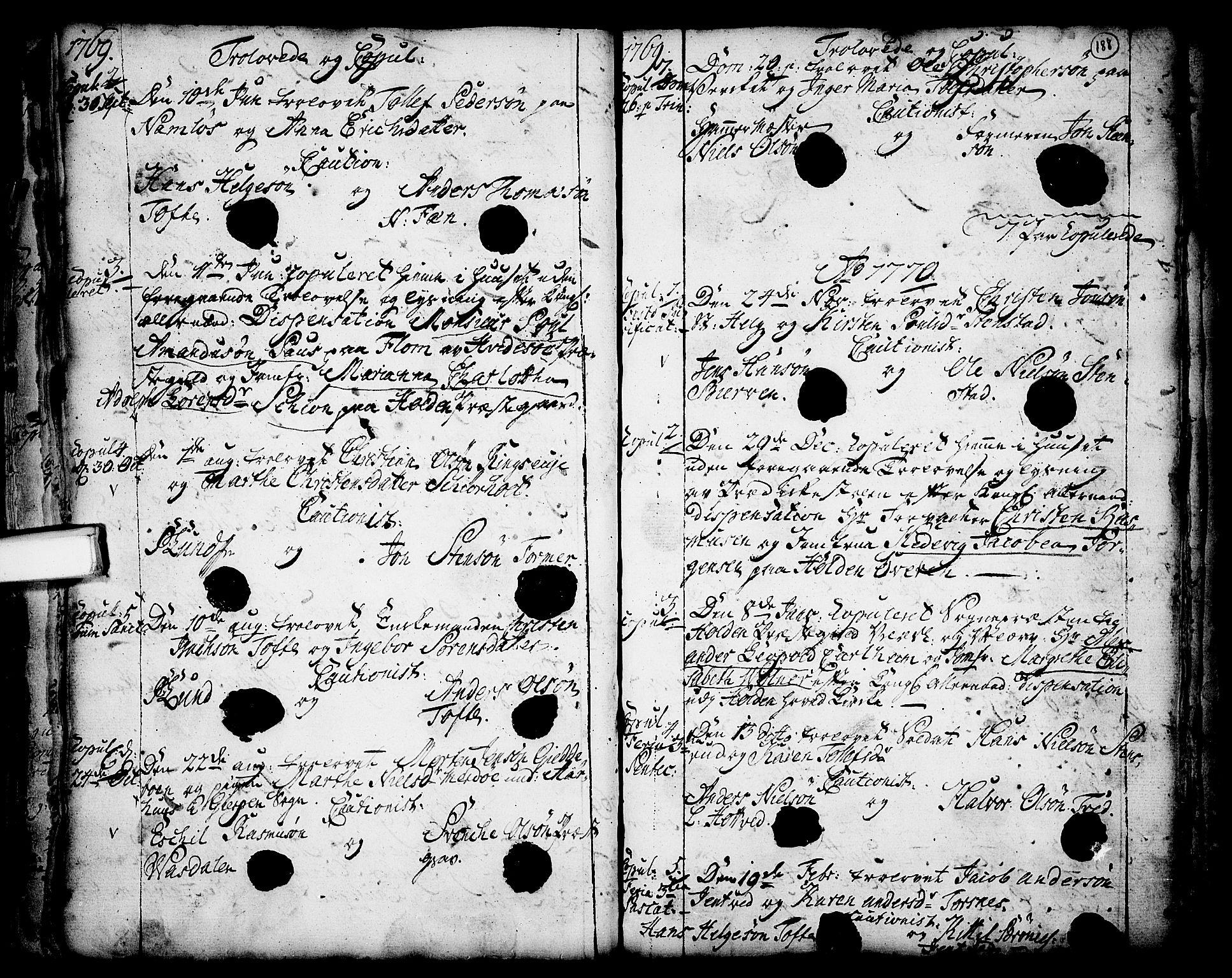 SAKO, Holla kirkebøker, F/Fa/L0001: Ministerialbok nr. 1, 1717-1779, s. 188