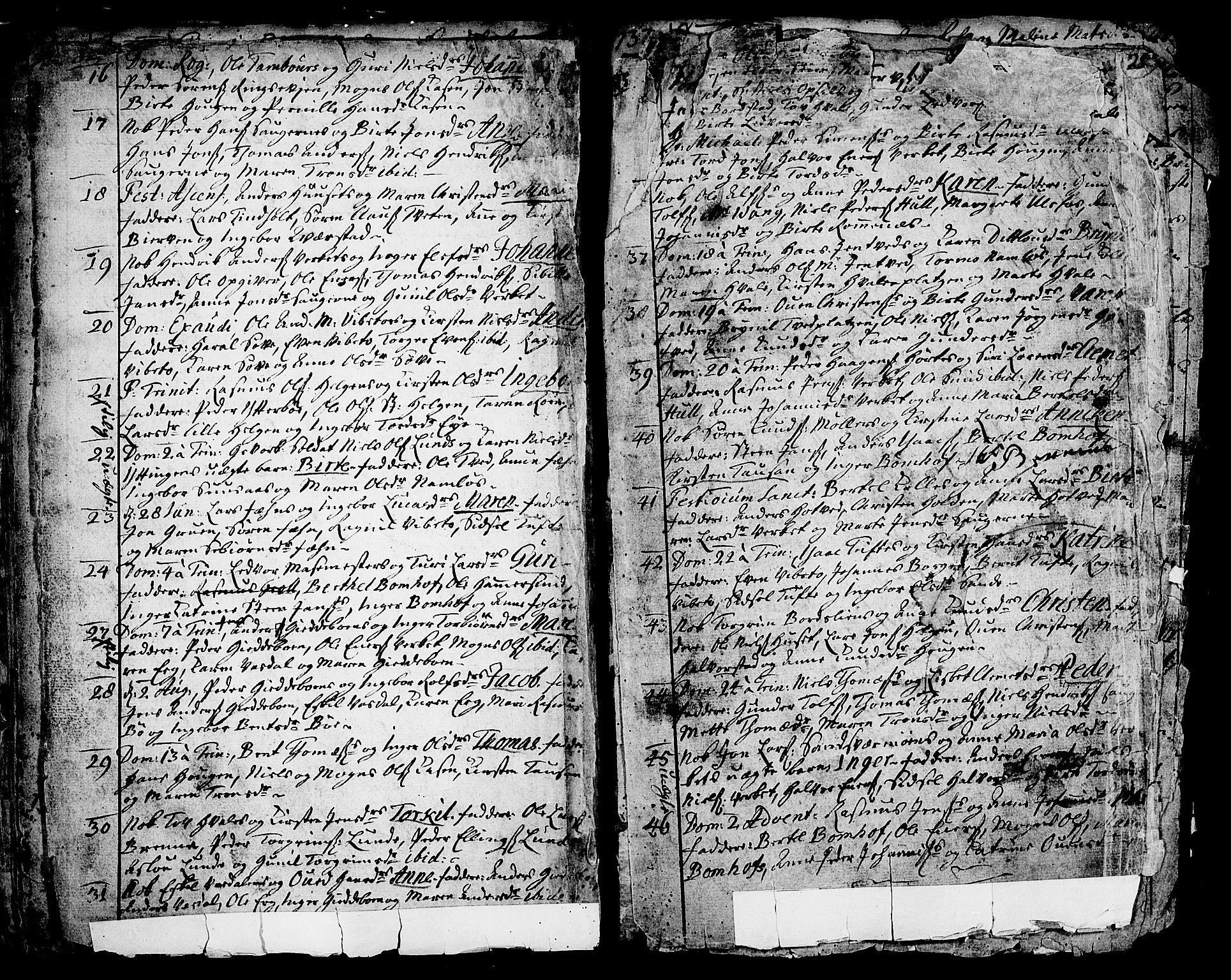 SAKO, Holla kirkebøker, F/Fa/L0001: Ministerialbok nr. 1, 1717-1779, s. 21