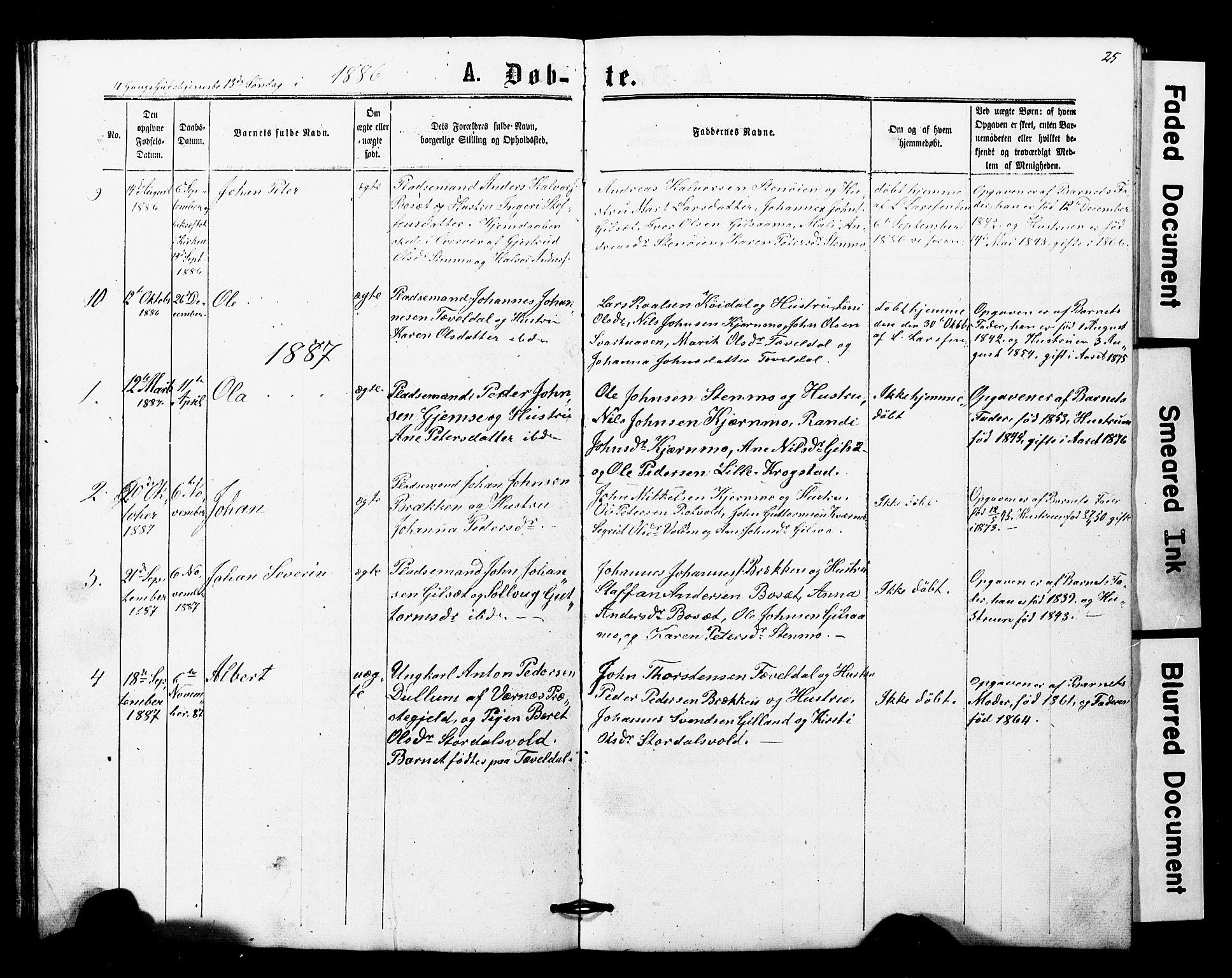 SAT, Ministerialprotokoller, klokkerbøker og fødselsregistre - Nord-Trøndelag, 707/L0052: Klokkerbok nr. 707C01, 1864-1897, s. 25