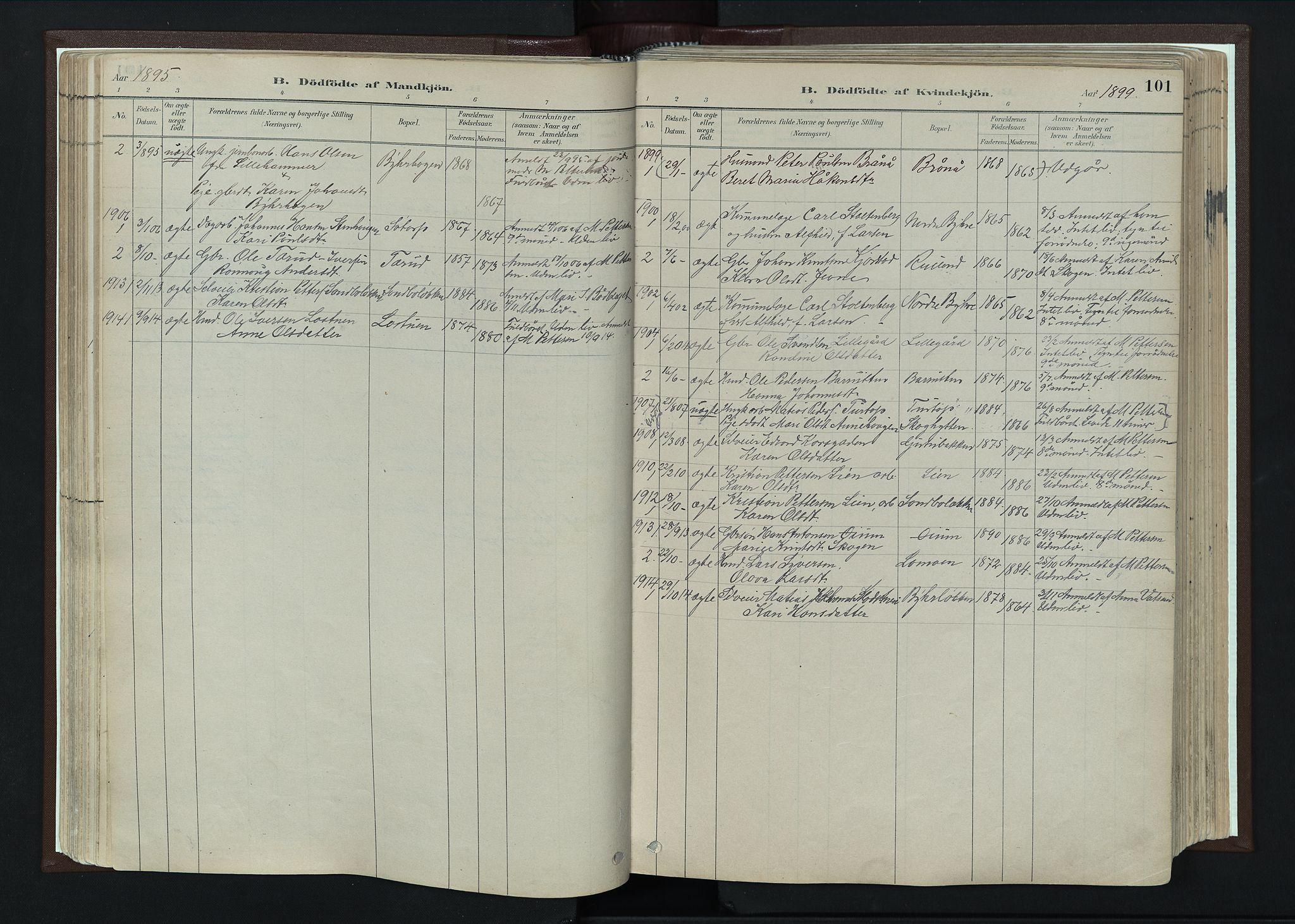 SAH, Nord-Fron prestekontor, Ministerialbok nr. 4, 1884-1914, s. 101