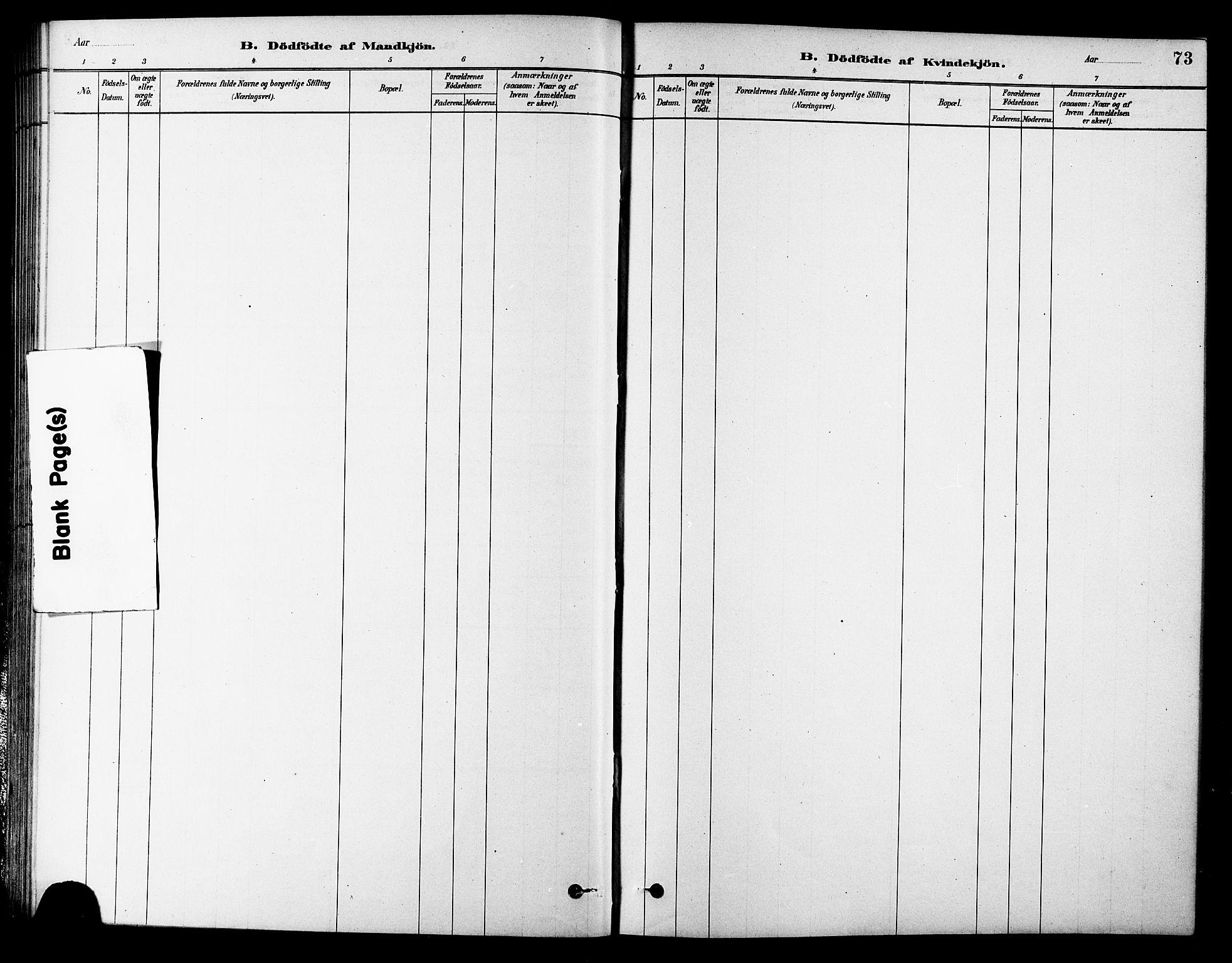 SAT, Ministerialprotokoller, klokkerbøker og fødselsregistre - Sør-Trøndelag, 686/L0983: Ministerialbok nr. 686A01, 1879-1890, s. 73