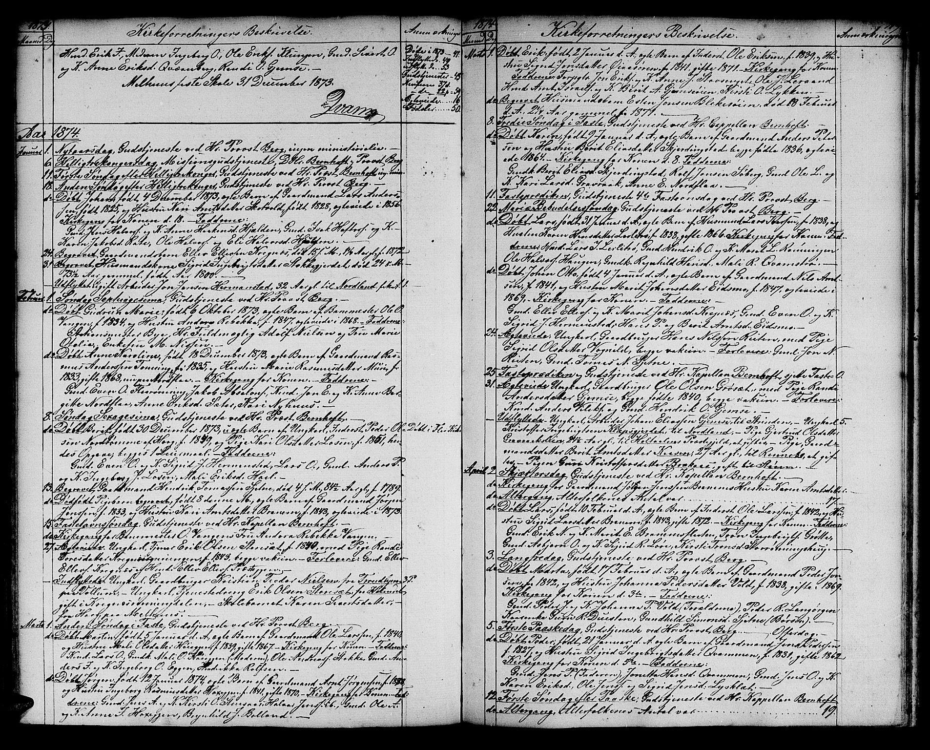 SAT, Ministerialprotokoller, klokkerbøker og fødselsregistre - Sør-Trøndelag, 691/L1093: Klokkerbok nr. 691C04, 1852-1879, s. 119
