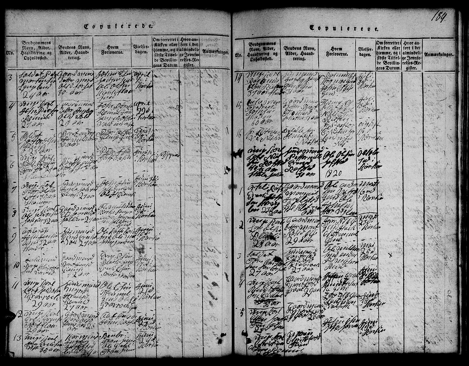 SAT, Ministerialprotokoller, klokkerbøker og fødselsregistre - Sør-Trøndelag, 691/L1092: Klokkerbok nr. 691C03, 1816-1852, s. 189