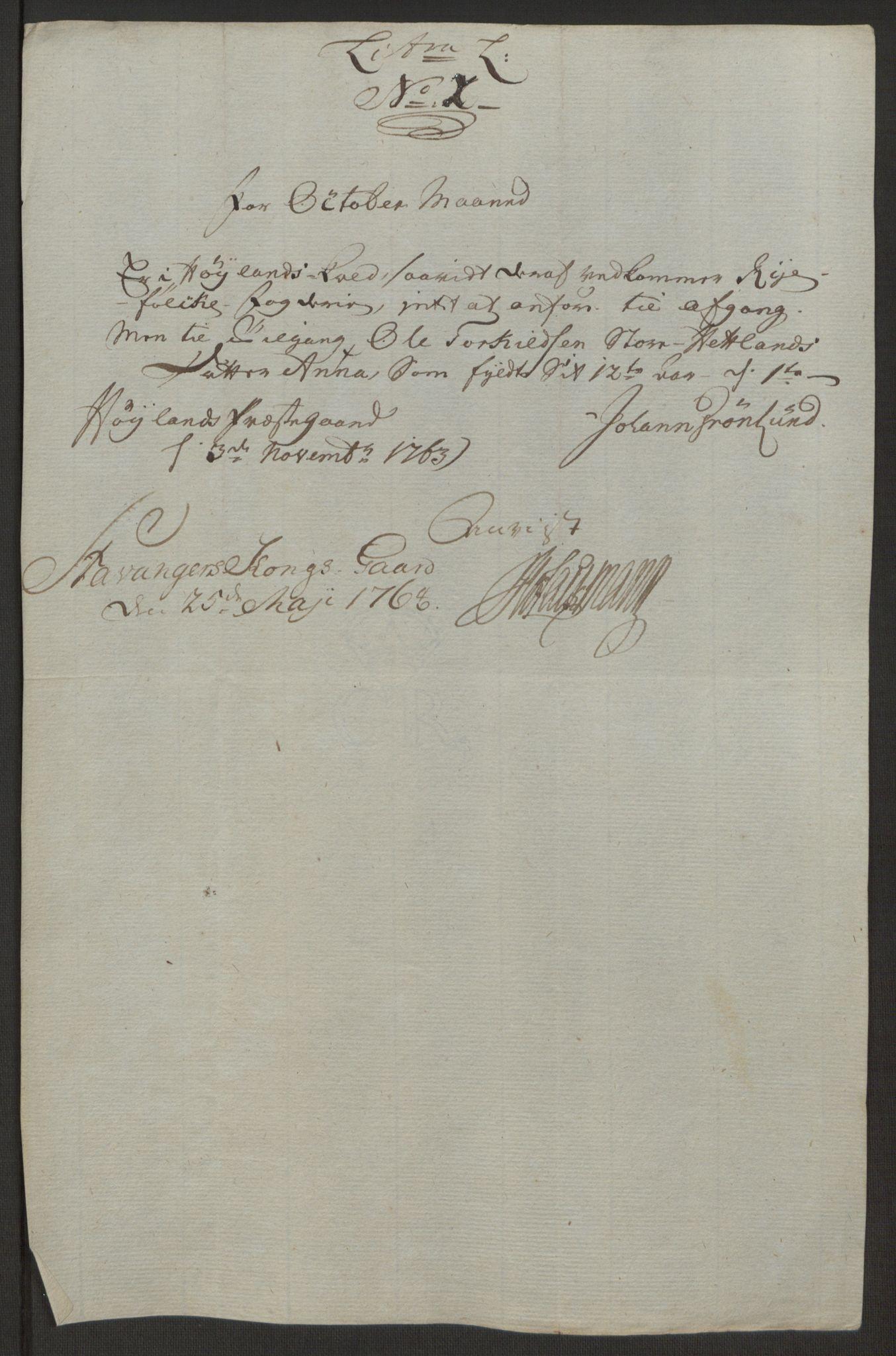 RA, Rentekammeret inntil 1814, Realistisk ordnet avdeling, Ol/L0016b: [Gg 10]: Ekstraskatten, 23.09.1762. Ryfylke, 1764-1768, s. 159