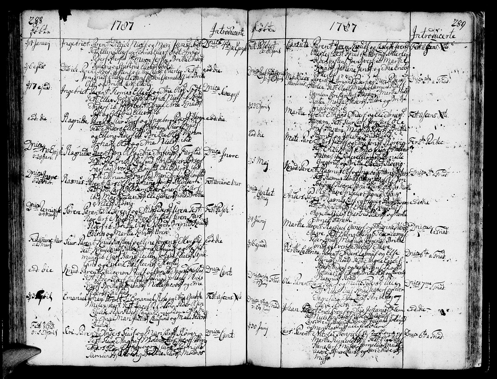SAT, Ministerialprotokoller, klokkerbøker og fødselsregistre - Møre og Romsdal, 536/L0493: Ministerialbok nr. 536A02, 1739-1802, s. 288-289