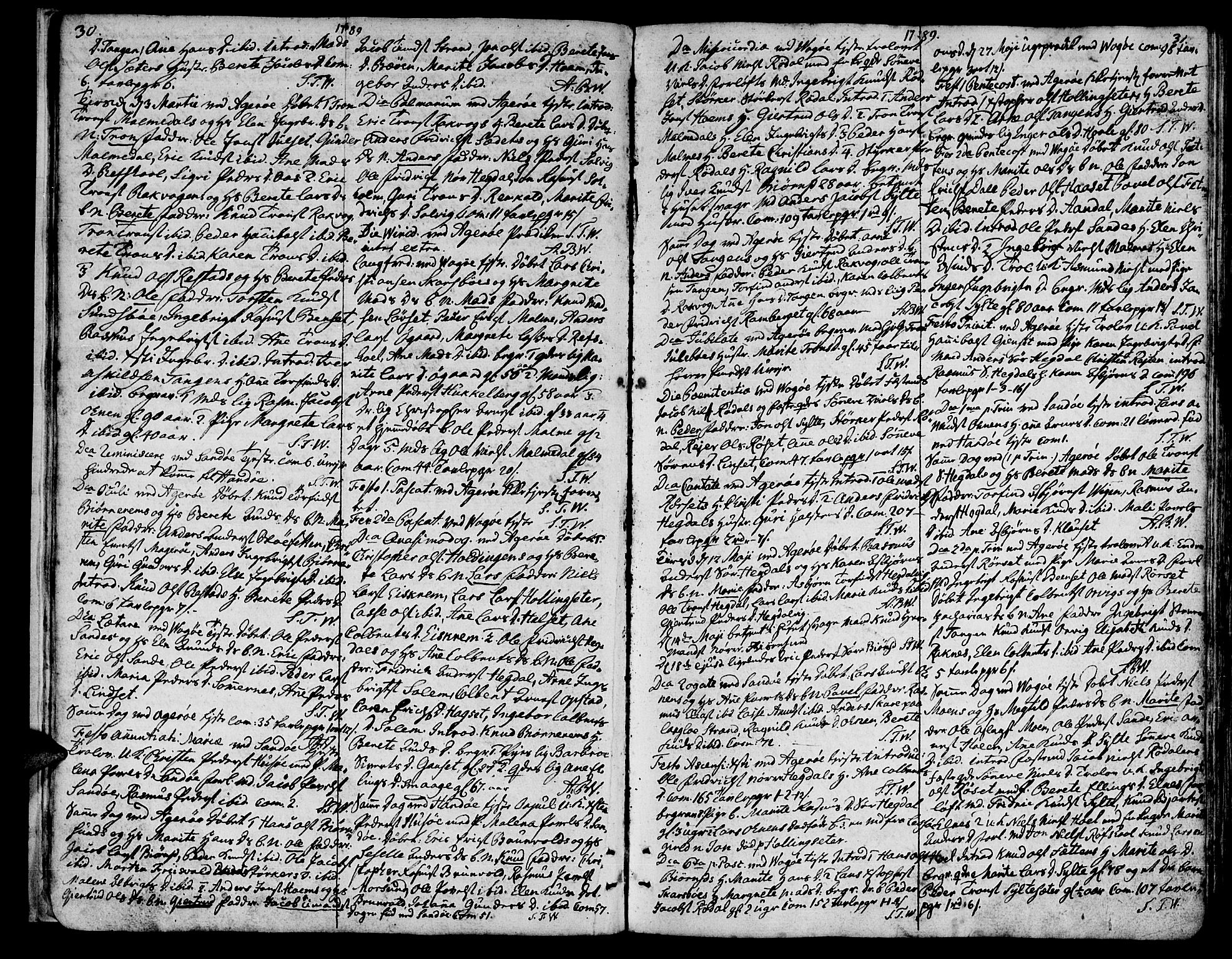 SAT, Ministerialprotokoller, klokkerbøker og fødselsregistre - Møre og Romsdal, 560/L0717: Ministerialbok nr. 560A01, 1785-1808, s. 30-31