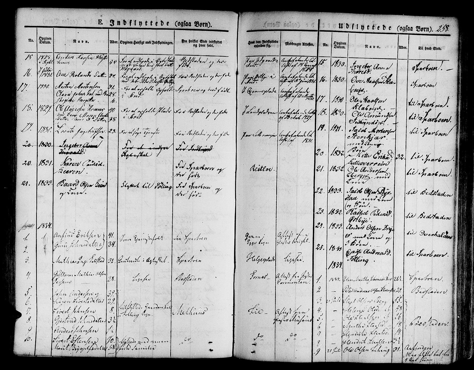 SAT, Ministerialprotokoller, klokkerbøker og fødselsregistre - Nord-Trøndelag, 746/L0445: Ministerialbok nr. 746A04, 1826-1846, s. 258