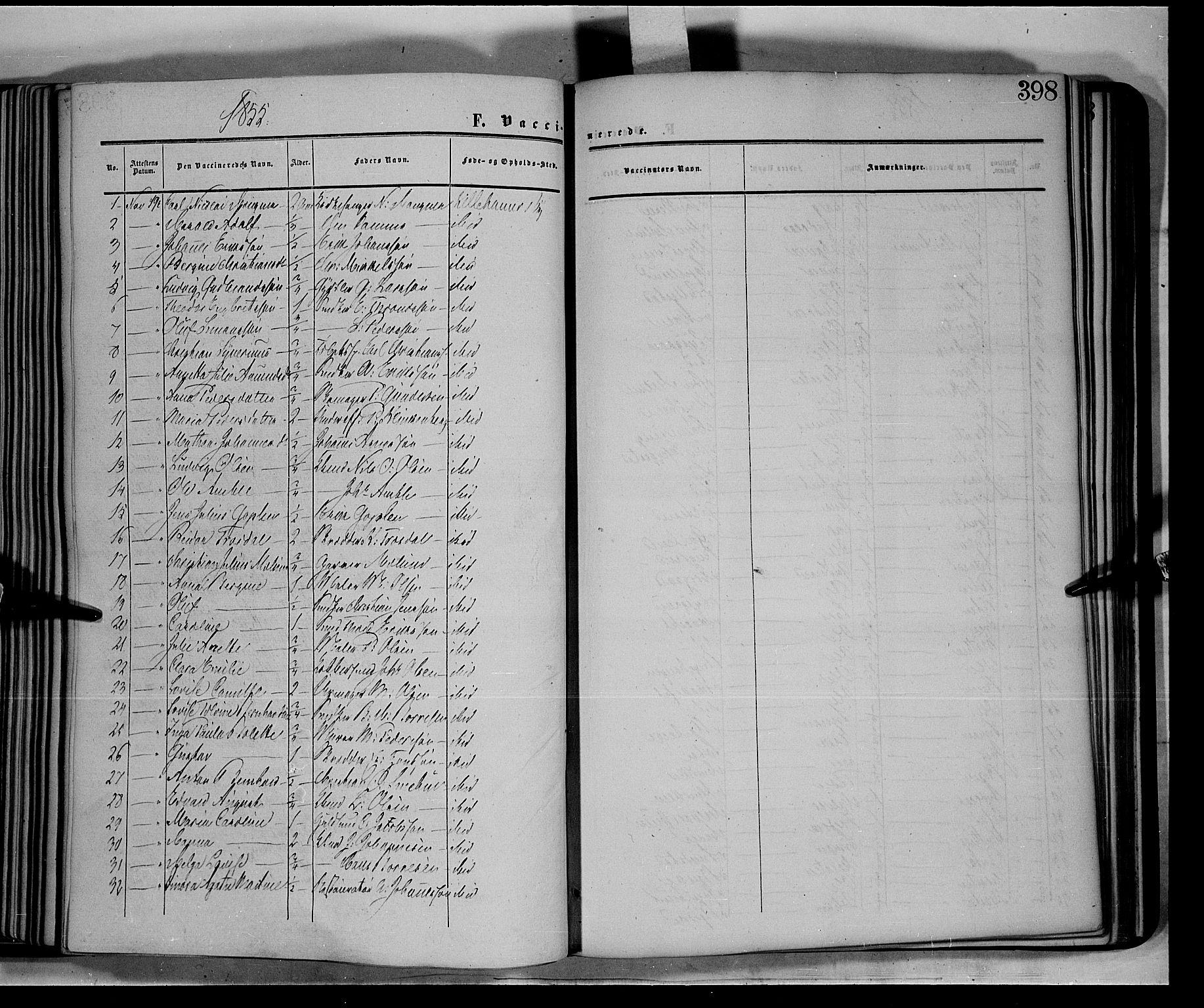 SAH, Fåberg prestekontor, Ministerialbok nr. 6B, 1855-1867, s. 398