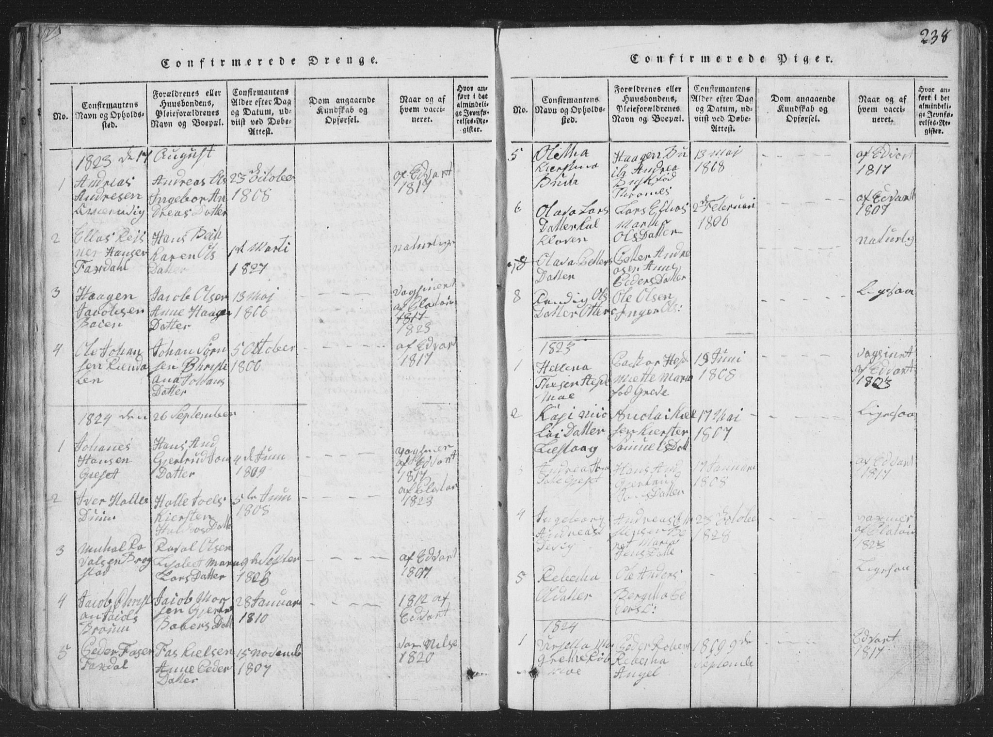 SAT, Ministerialprotokoller, klokkerbøker og fødselsregistre - Nord-Trøndelag, 773/L0613: Ministerialbok nr. 773A04, 1815-1845, s. 238