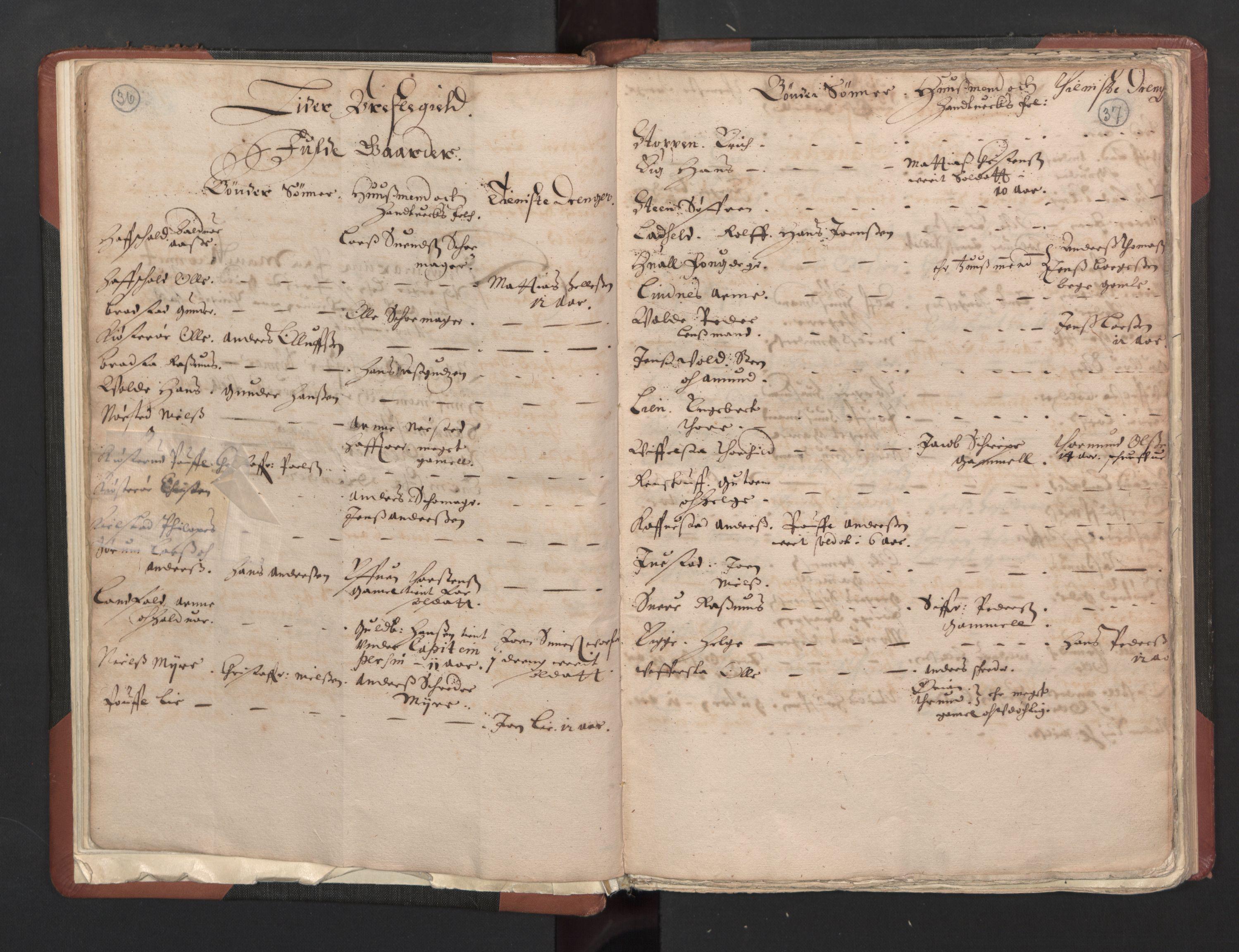 RA, Fogdenes og sorenskrivernes manntall 1664-1666, nr. 5: Fogderier (len og skipreider) i nåværende Buskerud fylke og Vestfold fylke, 1664, s. 36-37