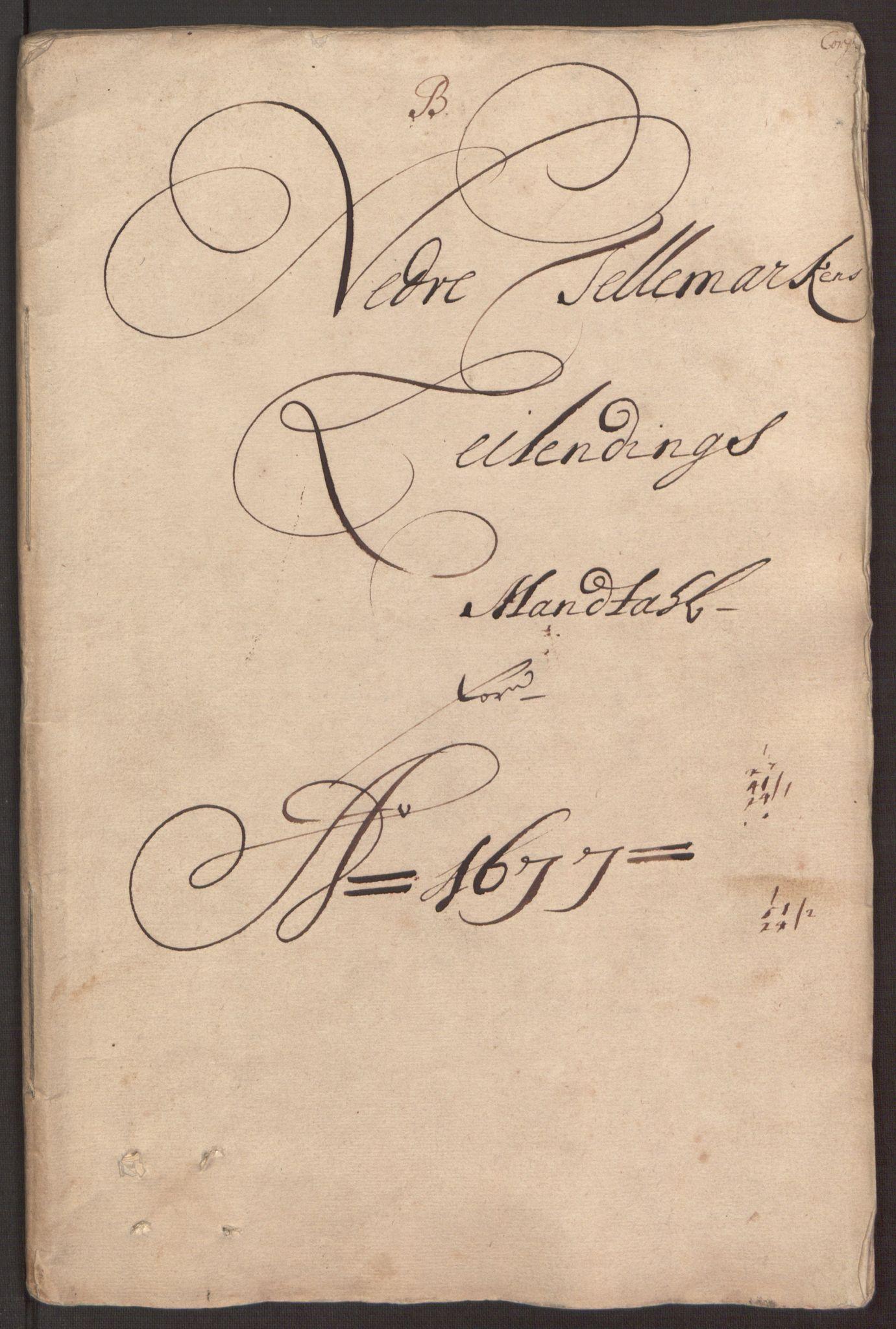 RA, Rentekammeret inntil 1814, Reviderte regnskaper, Fogderegnskap, R35/L2068: Fogderegnskap Øvre og Nedre Telemark, 1677, s. 47