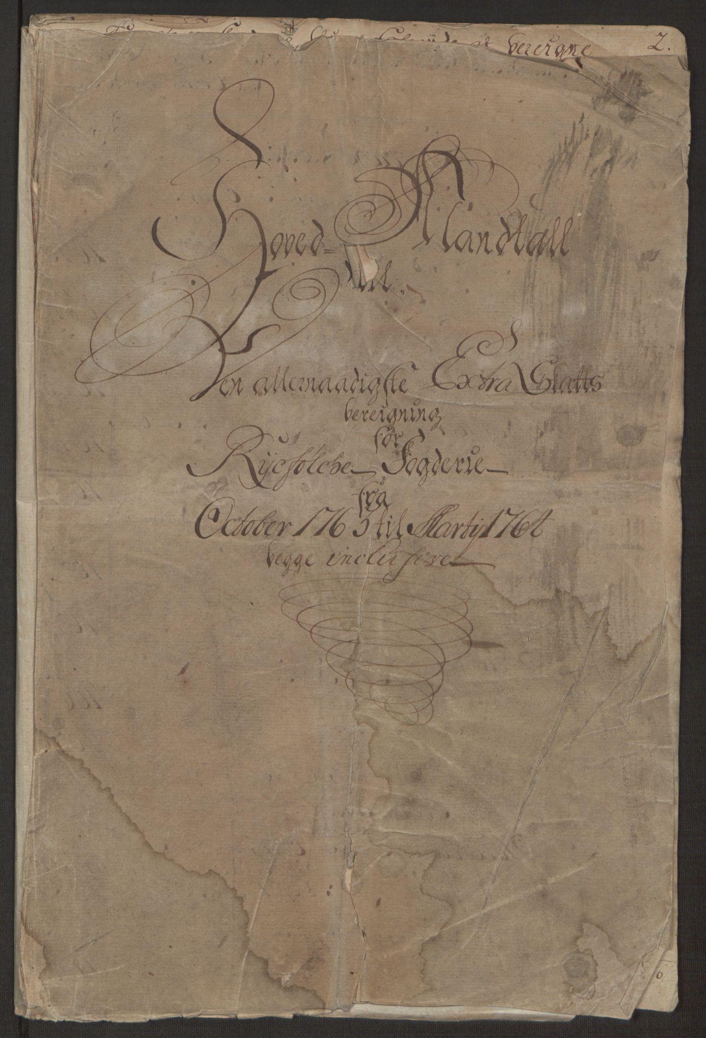 RA, Rentekammeret inntil 1814, Realistisk ordnet avdeling, Ol/L0016b: [Gg 10]: Ekstraskatten, 23.09.1762. Ryfylke, 1764-1768, s. 358