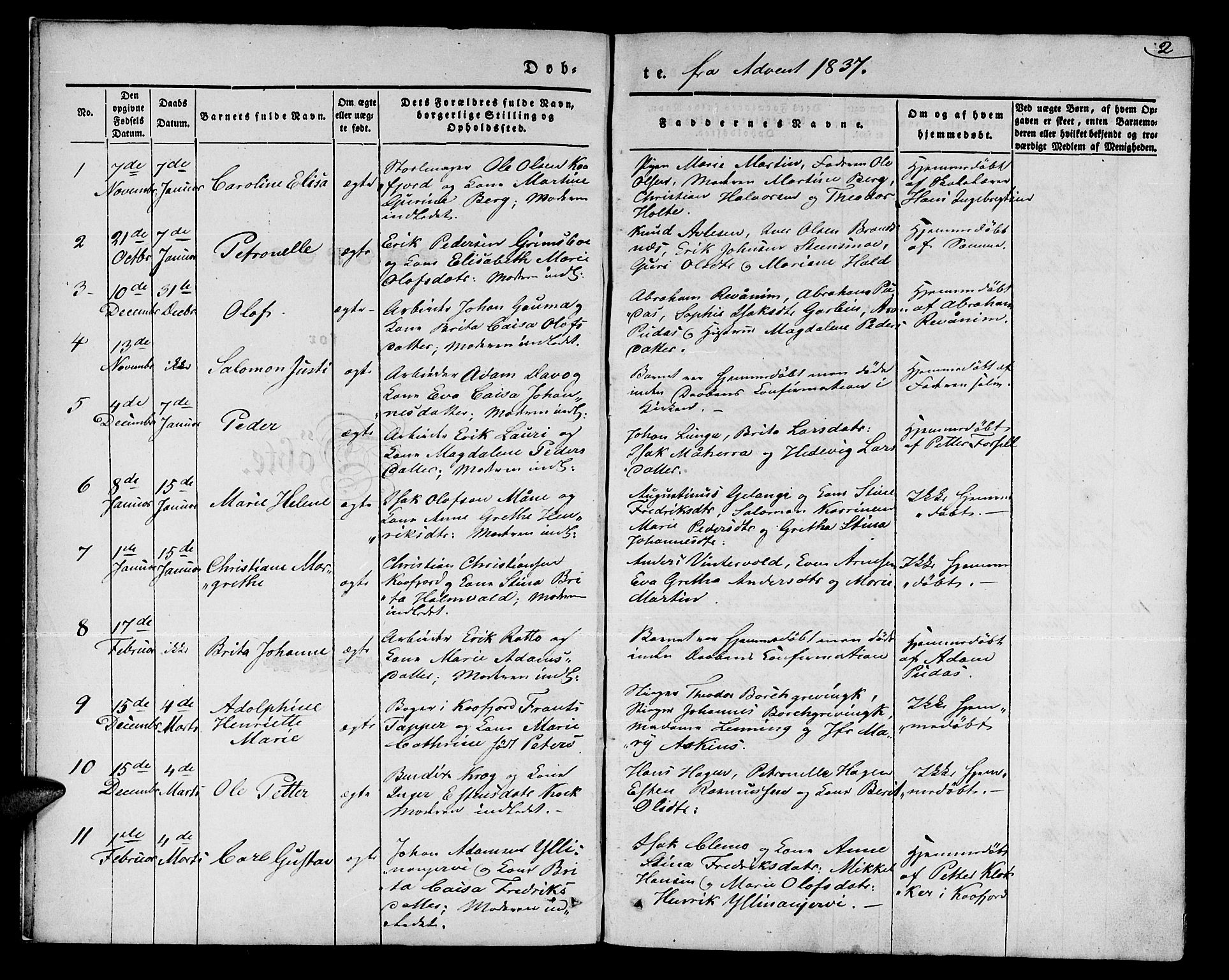 SATØ, Talvik sokneprestkontor, H/Ha/L0015kirke: Ministerialbok nr. 15, 1837-1847, s. 2