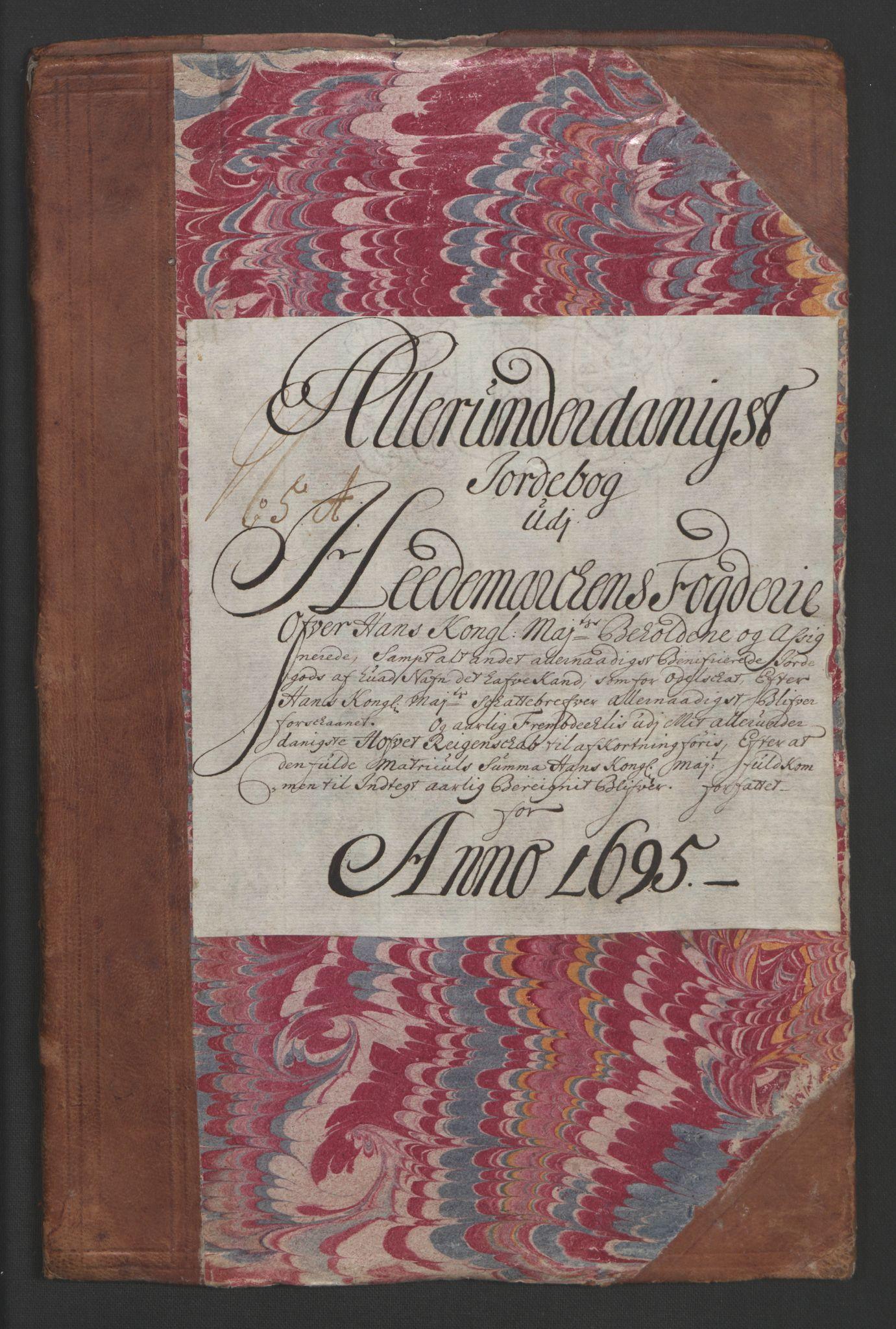 RA, Rentekammeret inntil 1814, Reviderte regnskaper, Fogderegnskap, R16/L1036: Fogderegnskap Hedmark, 1695-1696, s. 149