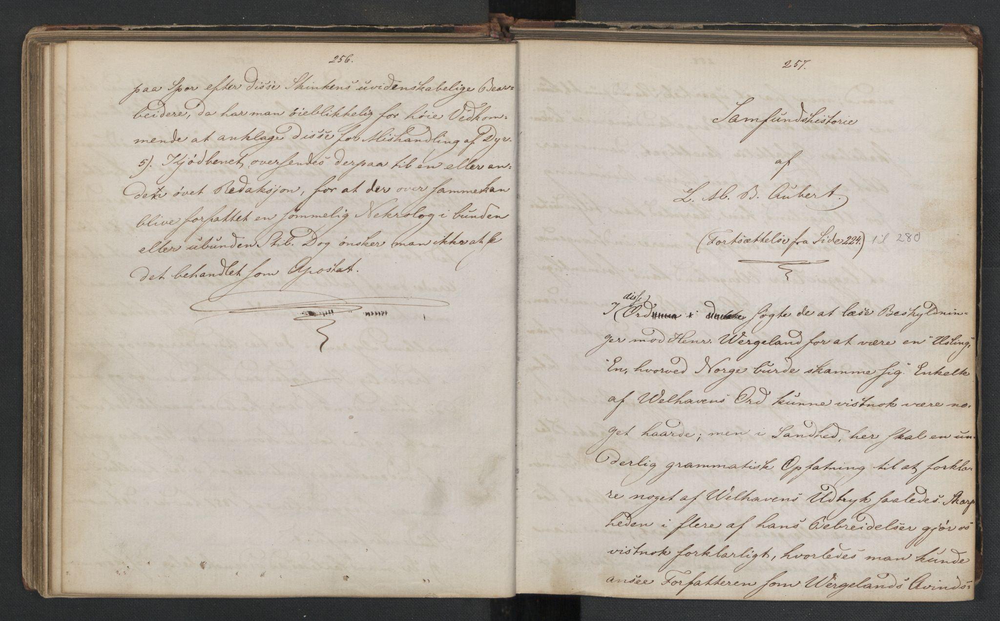 RA, Det Norske Studentersamfund, X/Xa/L0006, 1856-1857, s. 132