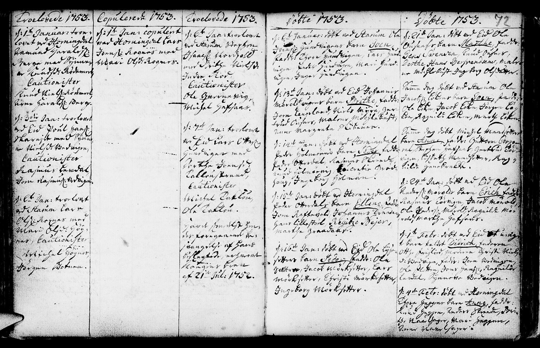 SAB, Eid Sokneprestembete, H/Haa: Ministerialbok nr. A 2, 1741-1769, s. 72