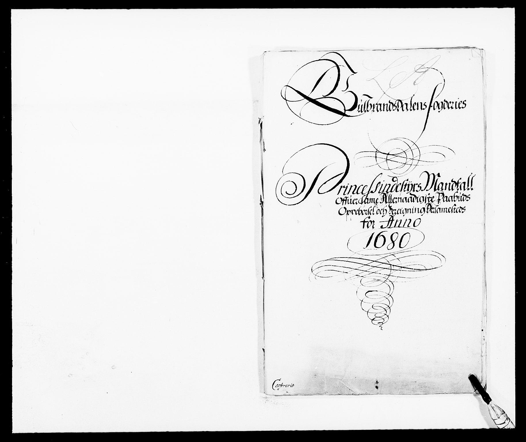 RA, Rentekammeret inntil 1814, Reviderte regnskaper, Fogderegnskap, R17/L1154: Fogderegnskap Gudbrandsdal, 1680, s. 177