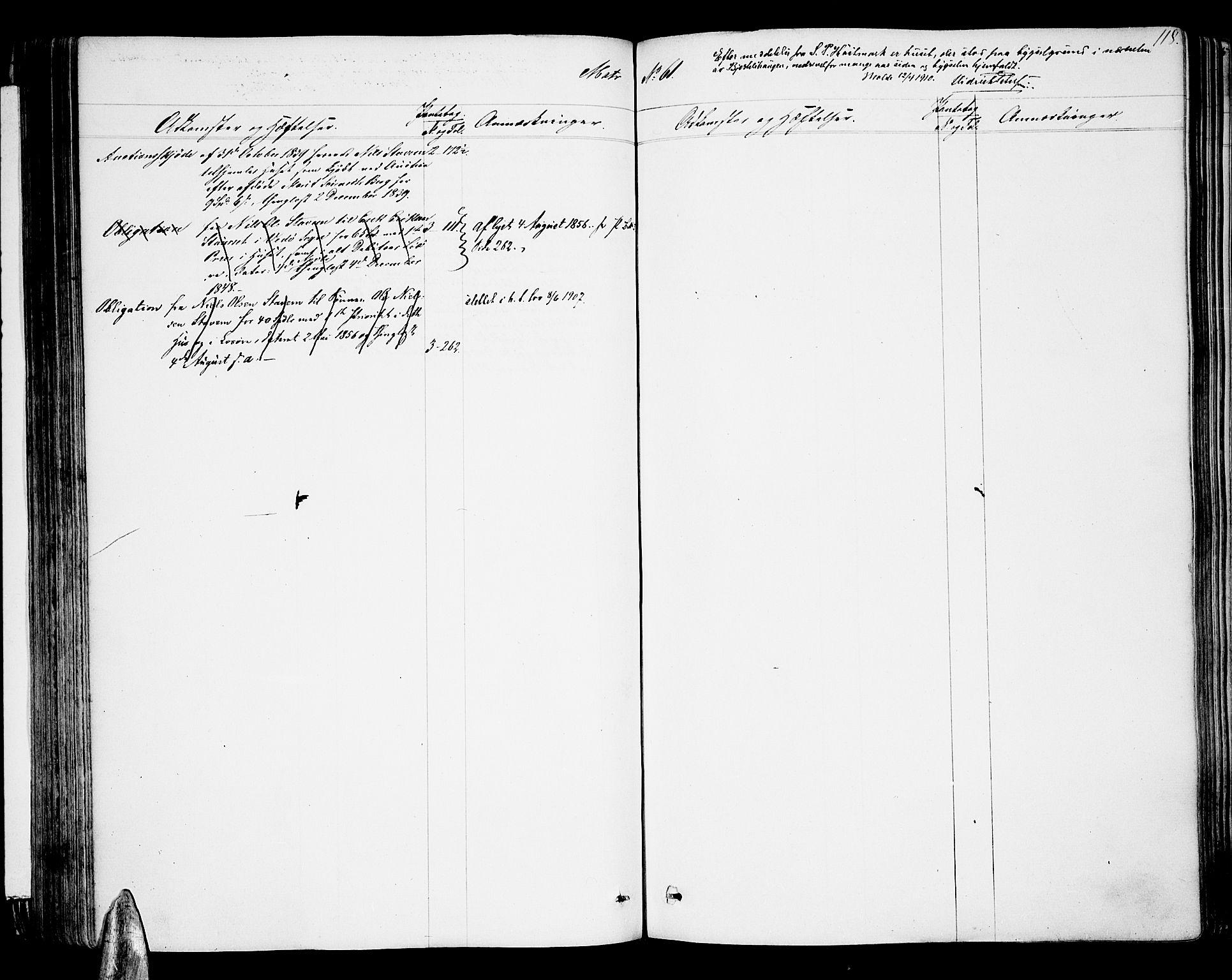 SAT, Molde byfogd, 2/2A/L0005: Panteregister nr. 5, 1823-1835, s. 118