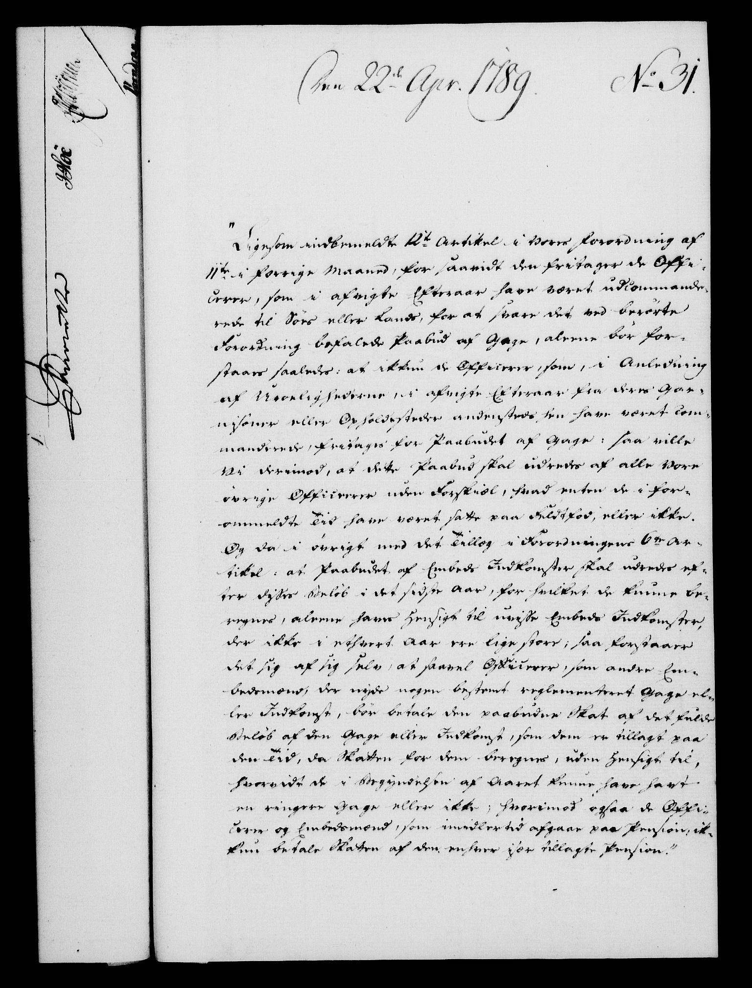 RA, Rentekammeret, Kammerkanselliet, G/Gf/Gfa/L0071: Norsk relasjons- og resolusjonsprotokoll (merket RK 52.71), 1789, s. 254