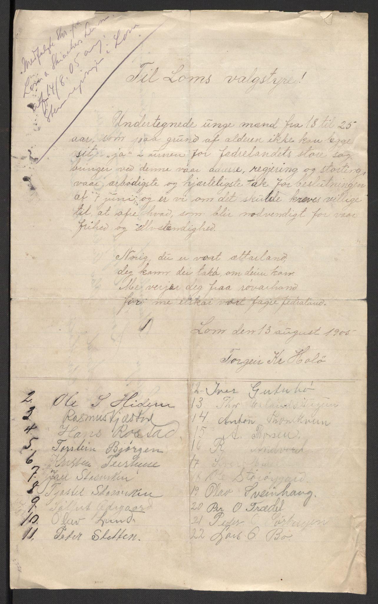 RA, Justisdepartementet, 2. sivilkontor C, F/L0125B: Folkeavstemmingen august 1905, 1905, s. 89