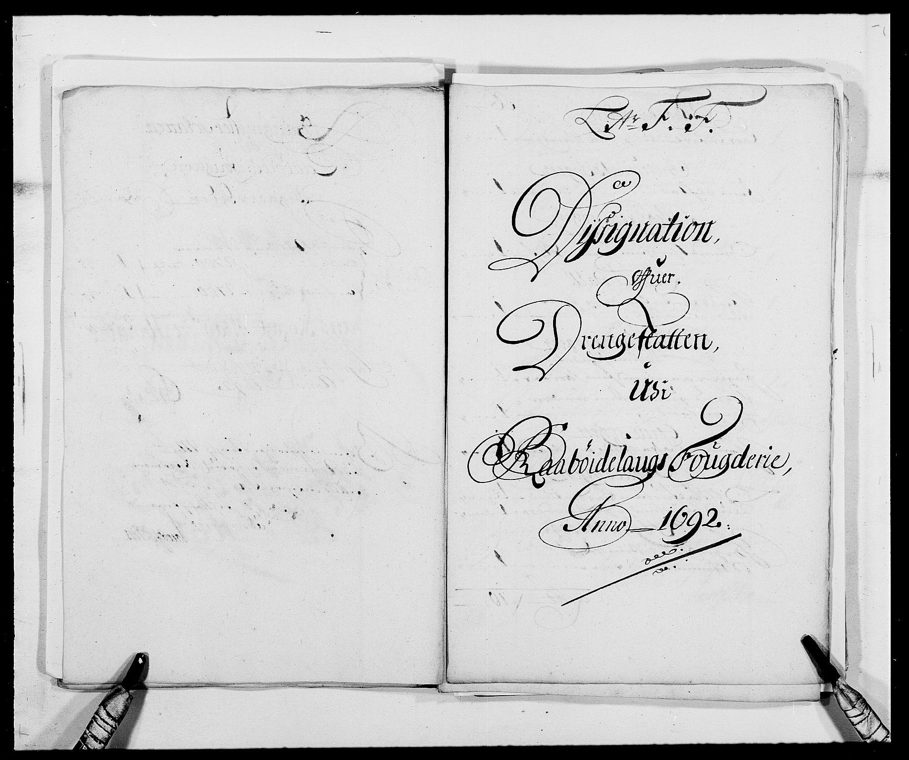 RA, Rentekammeret inntil 1814, Reviderte regnskaper, Fogderegnskap, R40/L2443: Fogderegnskap Råbyggelag, 1691-1692, s. 147