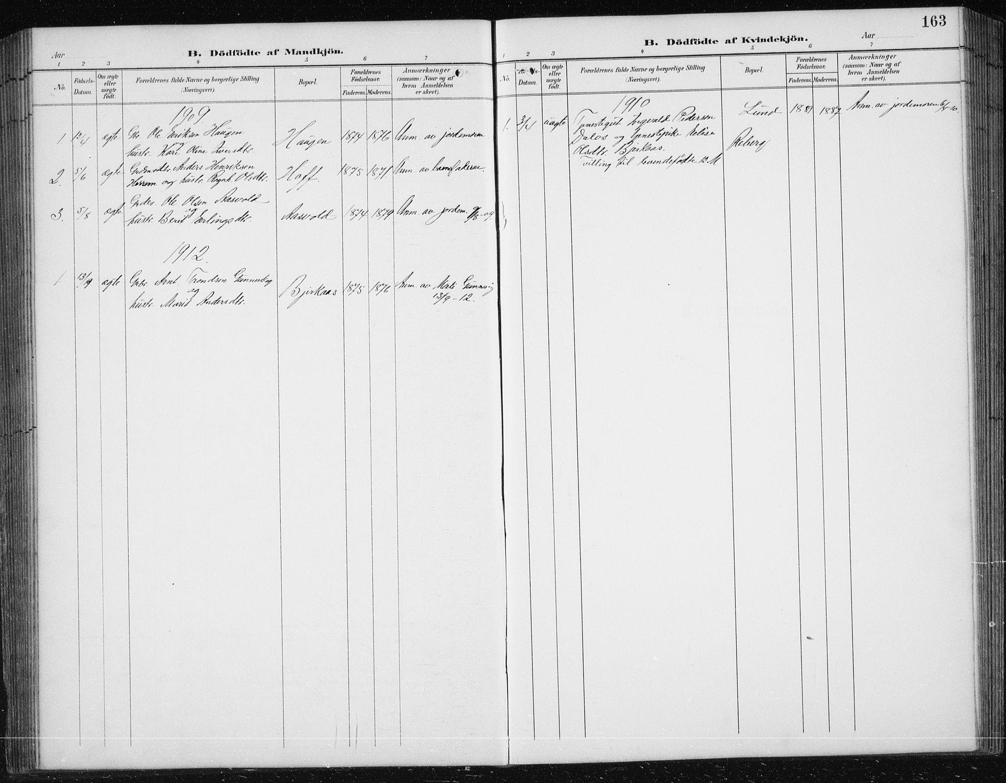SAT, Ministerialprotokoller, klokkerbøker og fødselsregistre - Sør-Trøndelag, 674/L0876: Klokkerbok nr. 674C03, 1892-1912, s. 163