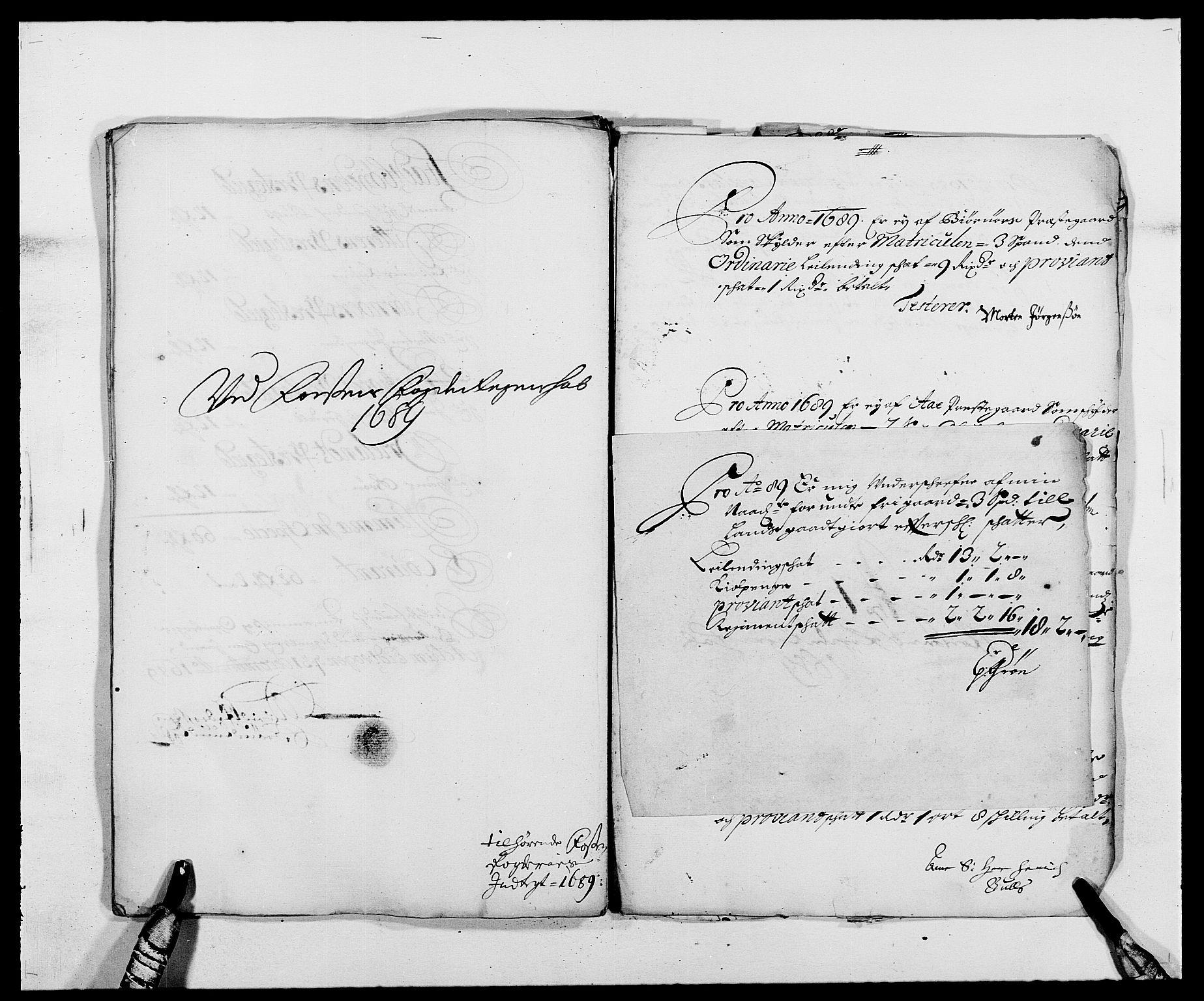 RA, Rentekammeret inntil 1814, Reviderte regnskaper, Fogderegnskap, R57/L3847: Fogderegnskap Fosen, 1689, s. 140