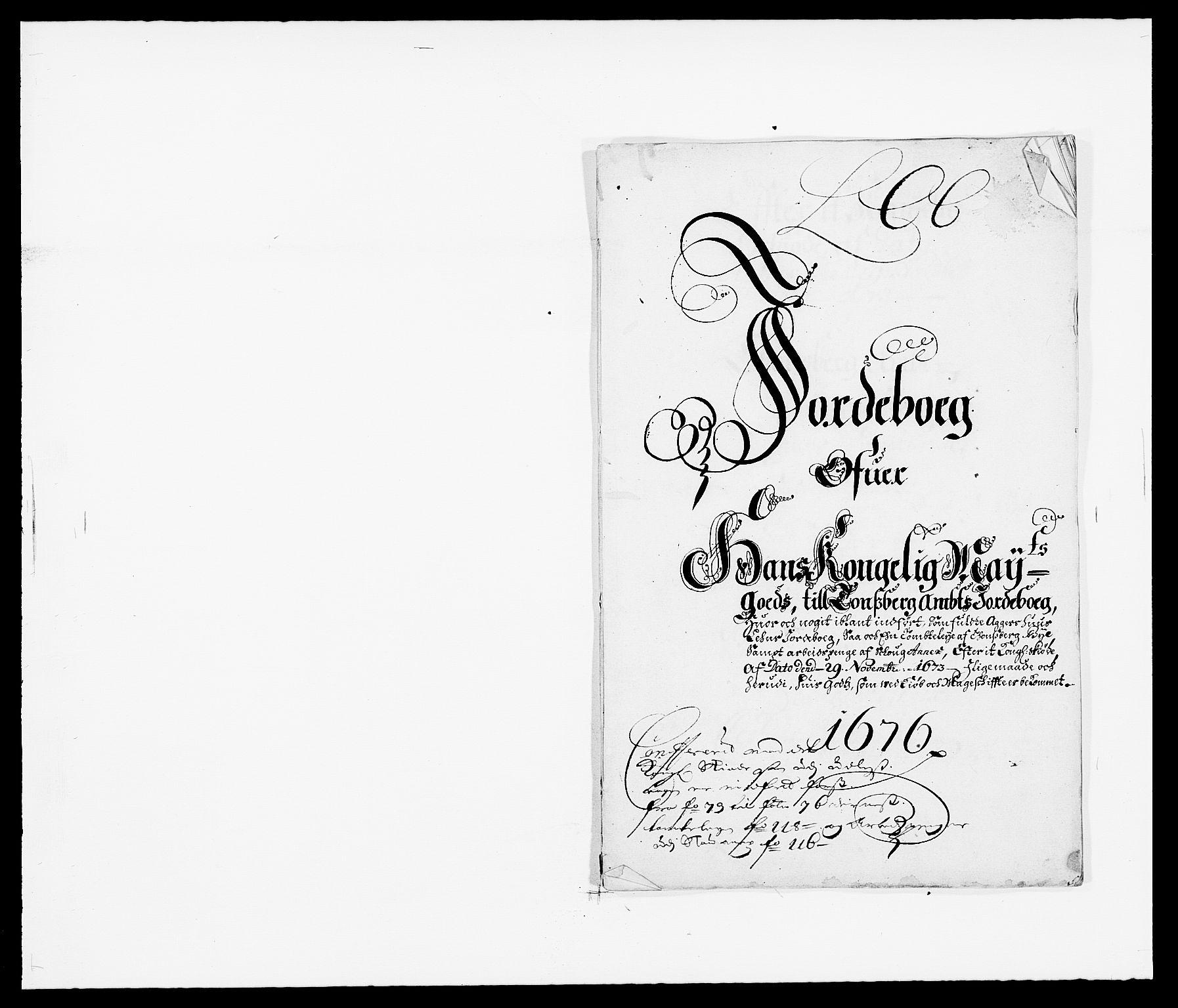 RA, Rentekammeret inntil 1814, Reviderte regnskaper, Fogderegnskap, R32/L1845: Fogderegnskap Jarlsberg grevskap, 1676-1678, s. 112