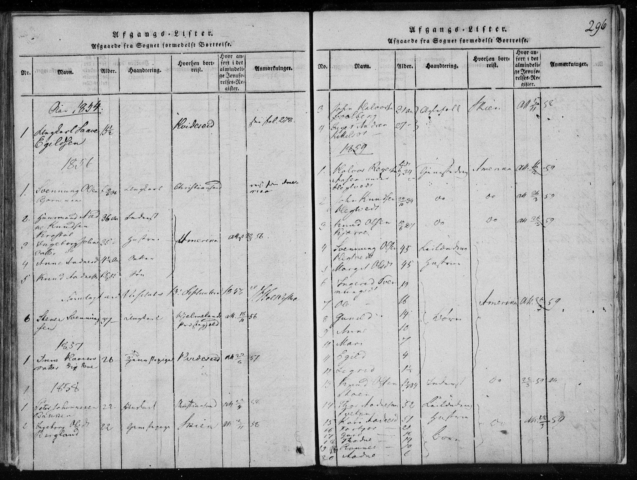 SAKO, Lårdal kirkebøker, F/Fa/L0005: Ministerialbok nr. I 5, 1815-1860, s. 296