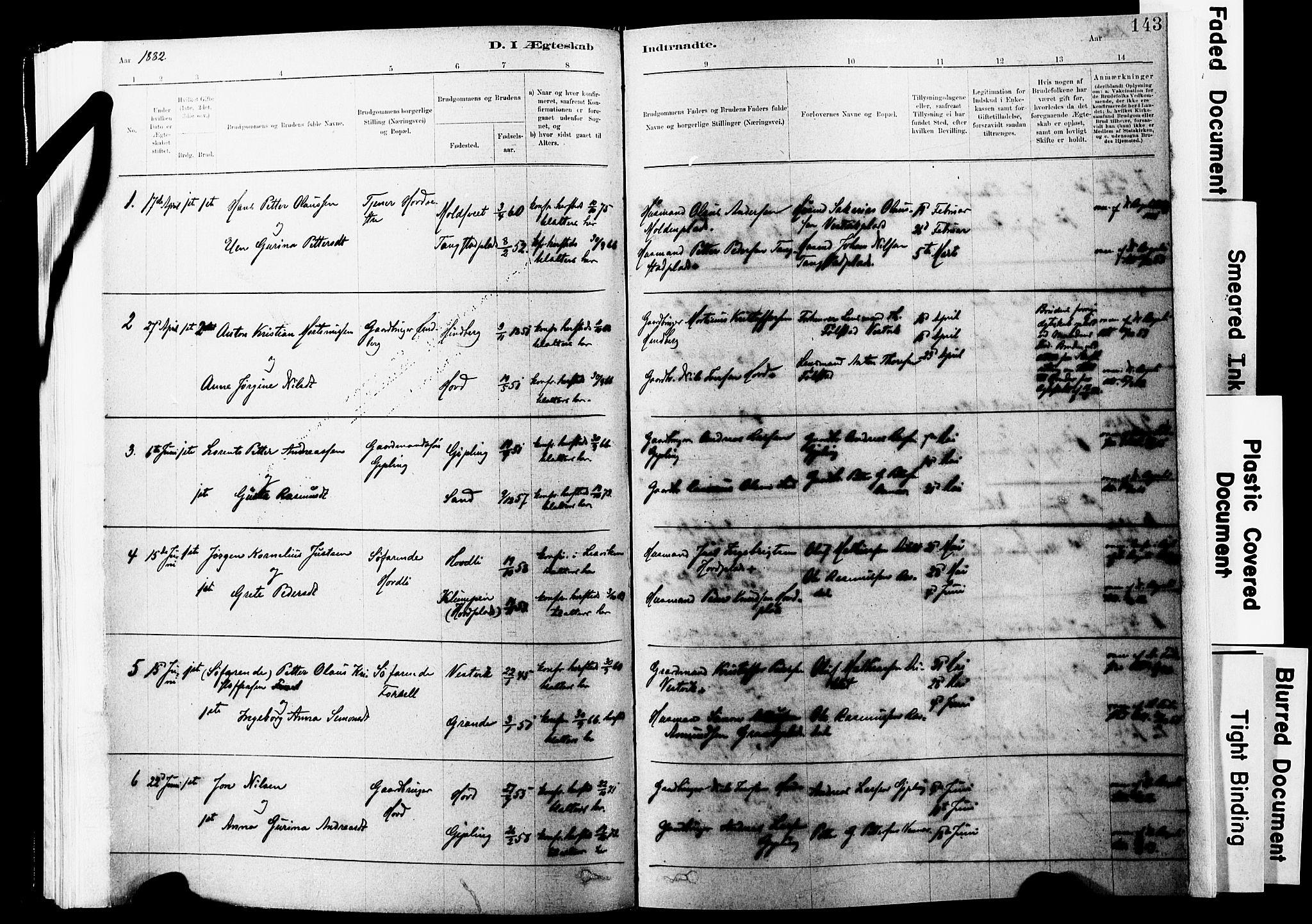 SAT, Ministerialprotokoller, klokkerbøker og fødselsregistre - Nord-Trøndelag, 744/L0420: Ministerialbok nr. 744A04, 1882-1904, s. 143