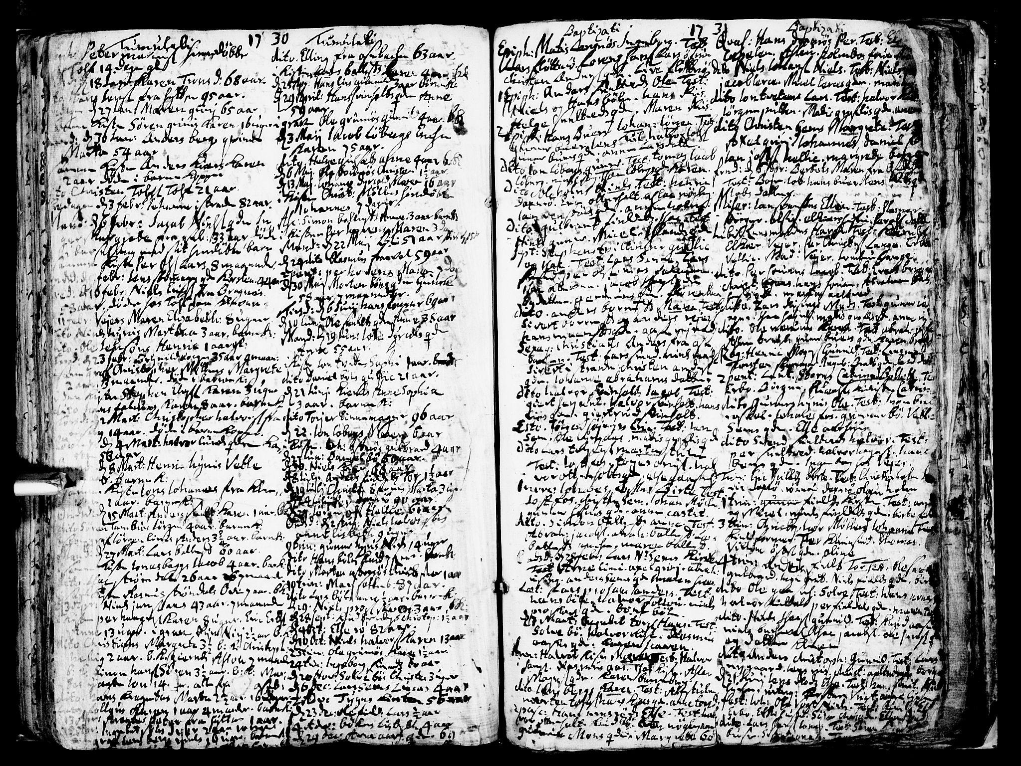 SAKO, Gjerpen kirkebøker, F/Fa/L0001: Ministerialbok nr. 1, 1681-1746