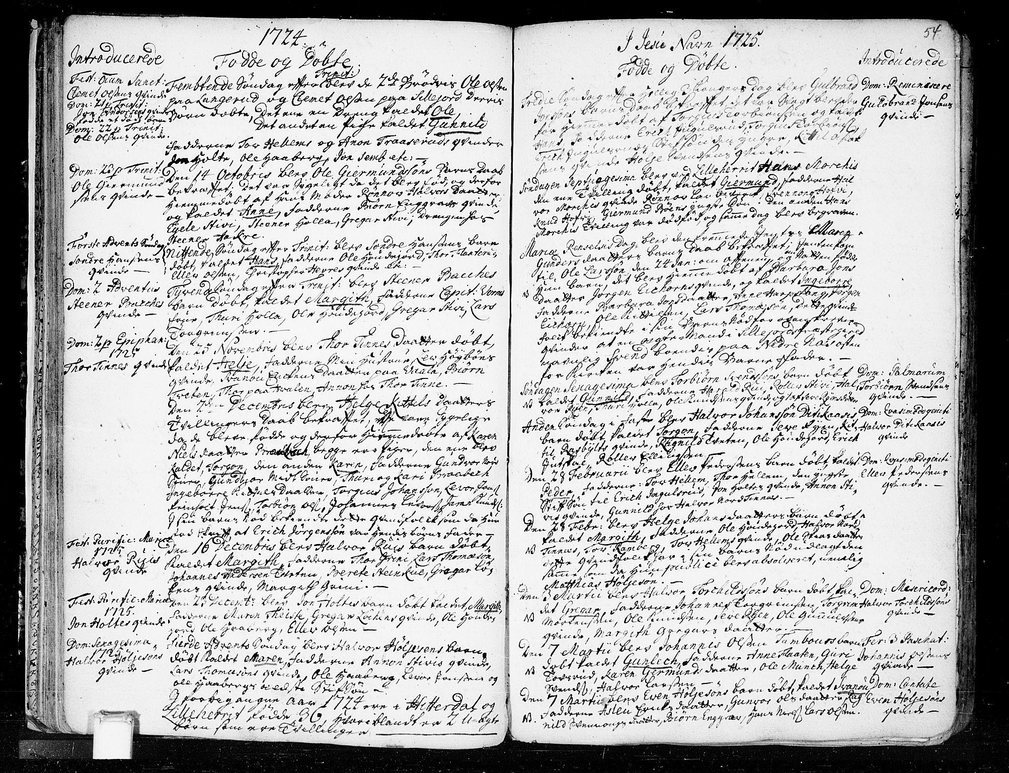 SAKO, Heddal kirkebøker, F/Fa/L0003: Ministerialbok nr. I 3, 1723-1783, s. 54