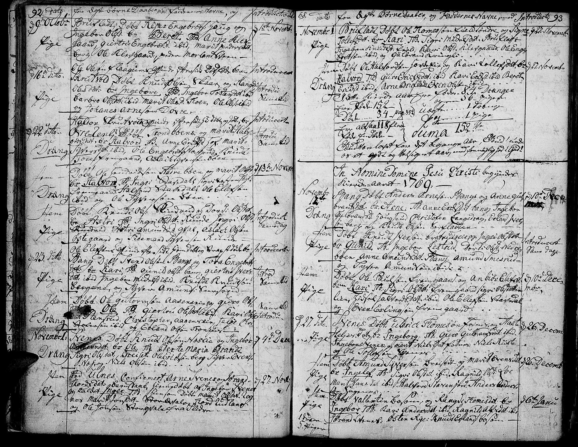 SAH, Aurdal prestekontor, Ministerialbok nr. 5, 1763-1781, s. 92-93