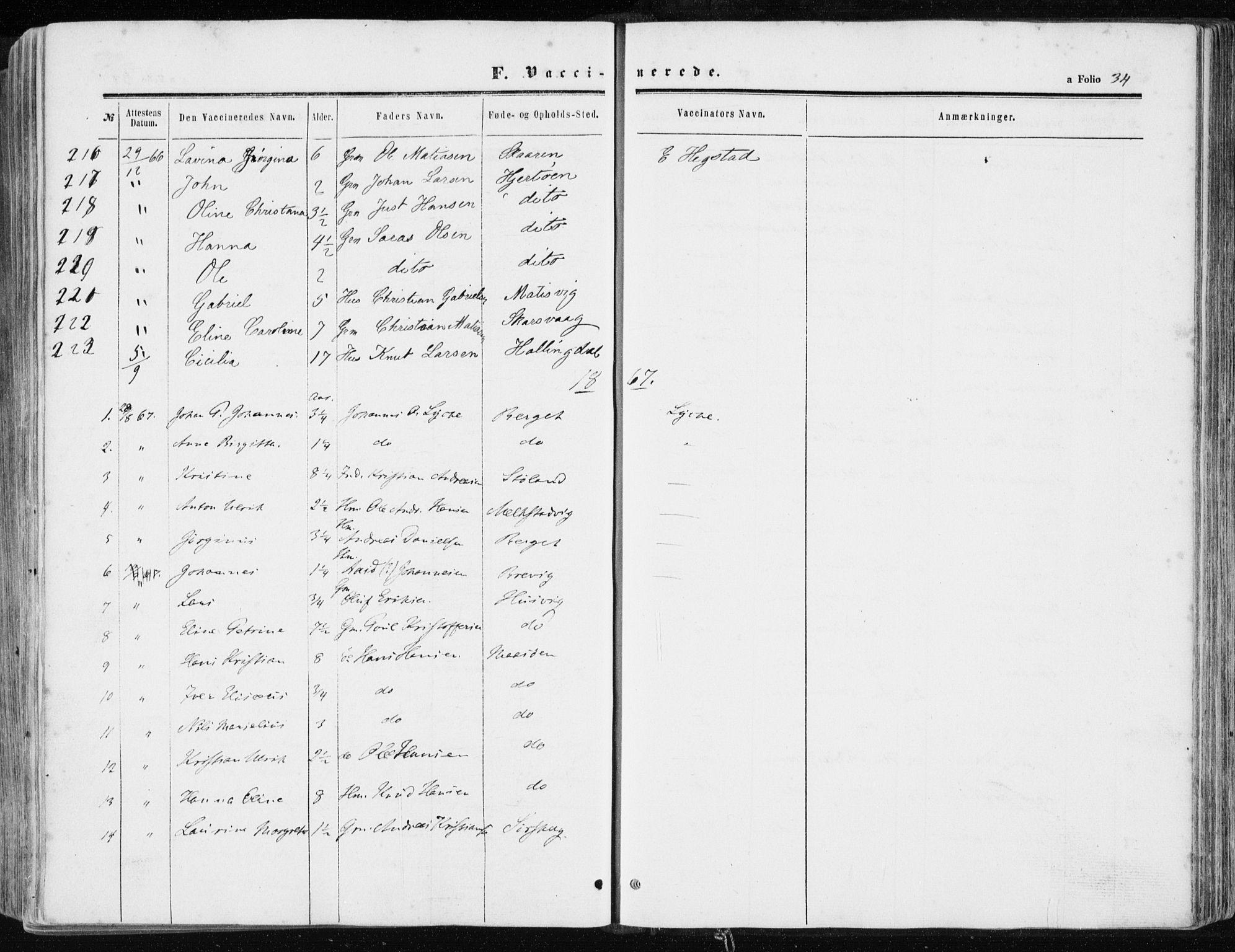 SAT, Ministerialprotokoller, klokkerbøker og fødselsregistre - Sør-Trøndelag, 634/L0531: Ministerialbok nr. 634A07, 1861-1870, s. 34