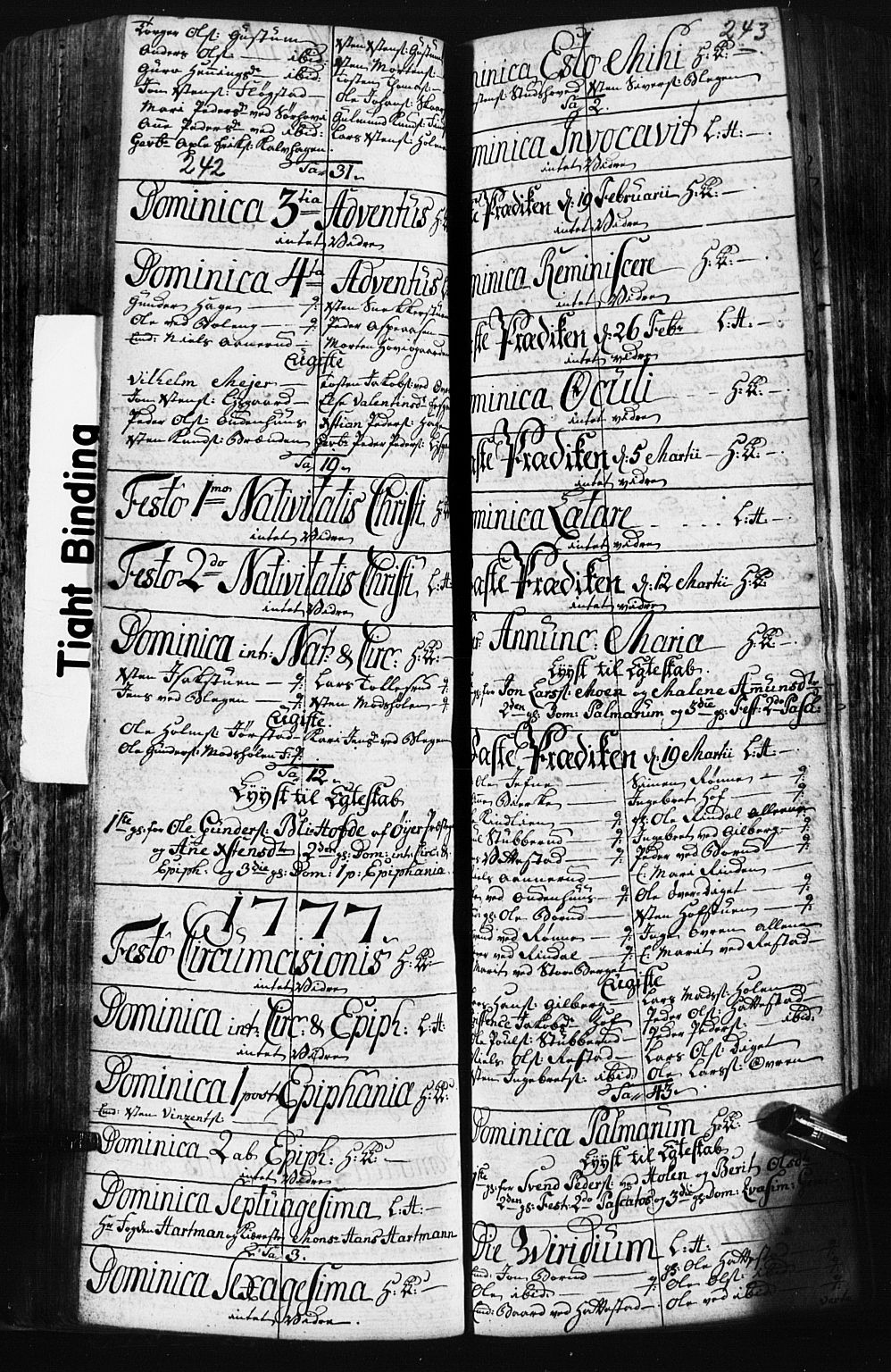 SAH, Fåberg prestekontor, Klokkerbok nr. 3, 1768-1796, s. 242-243