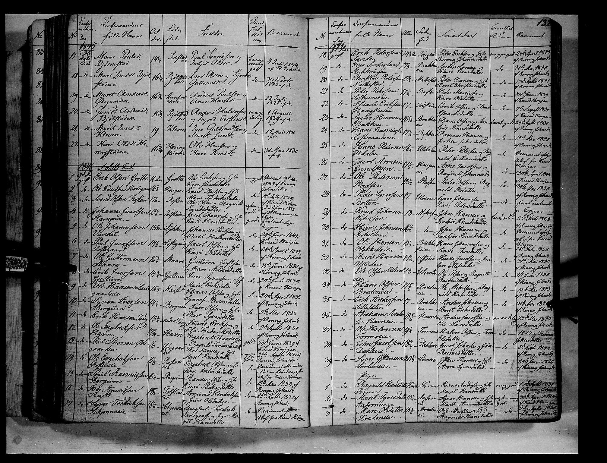 SAH, Vågå prestekontor, Ministerialbok nr. 5 /1, 1842-1856, s. 132