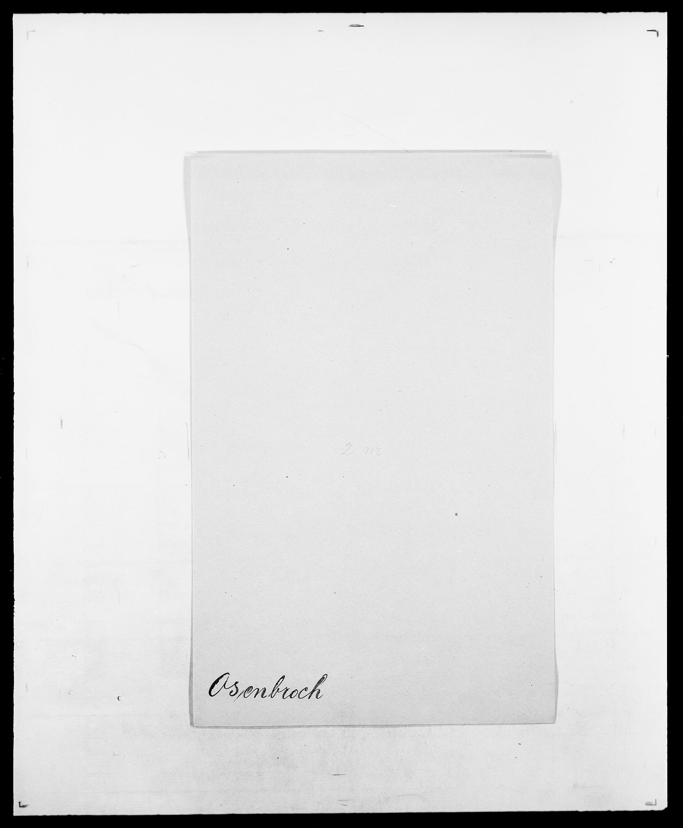 SAO, Delgobe, Charles Antoine - samling, D/Da/L0029: Obel - Oxholm, s. 433