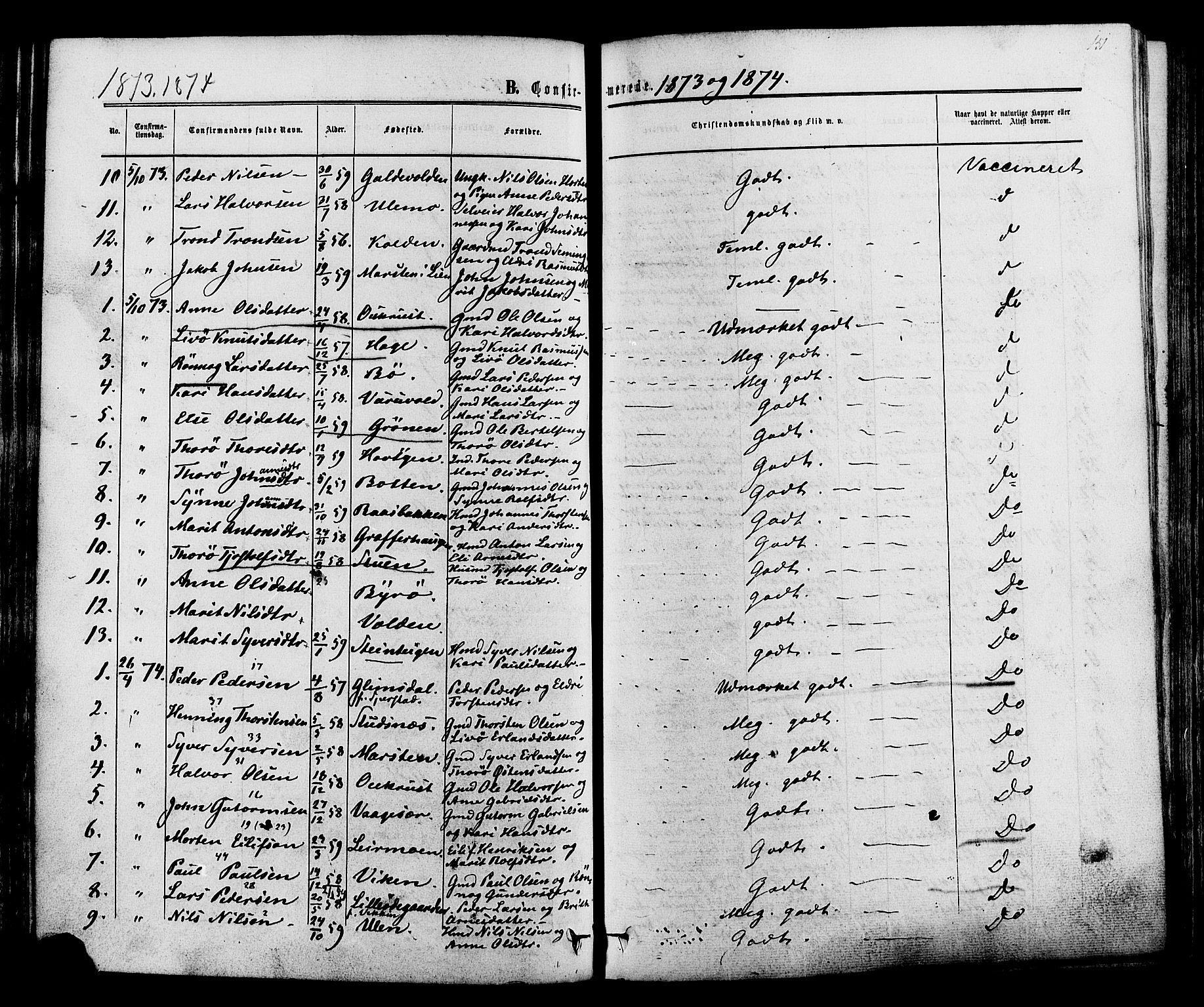 SAH, Lom prestekontor, K/L0007: Ministerialbok nr. 7, 1863-1884, s. 151