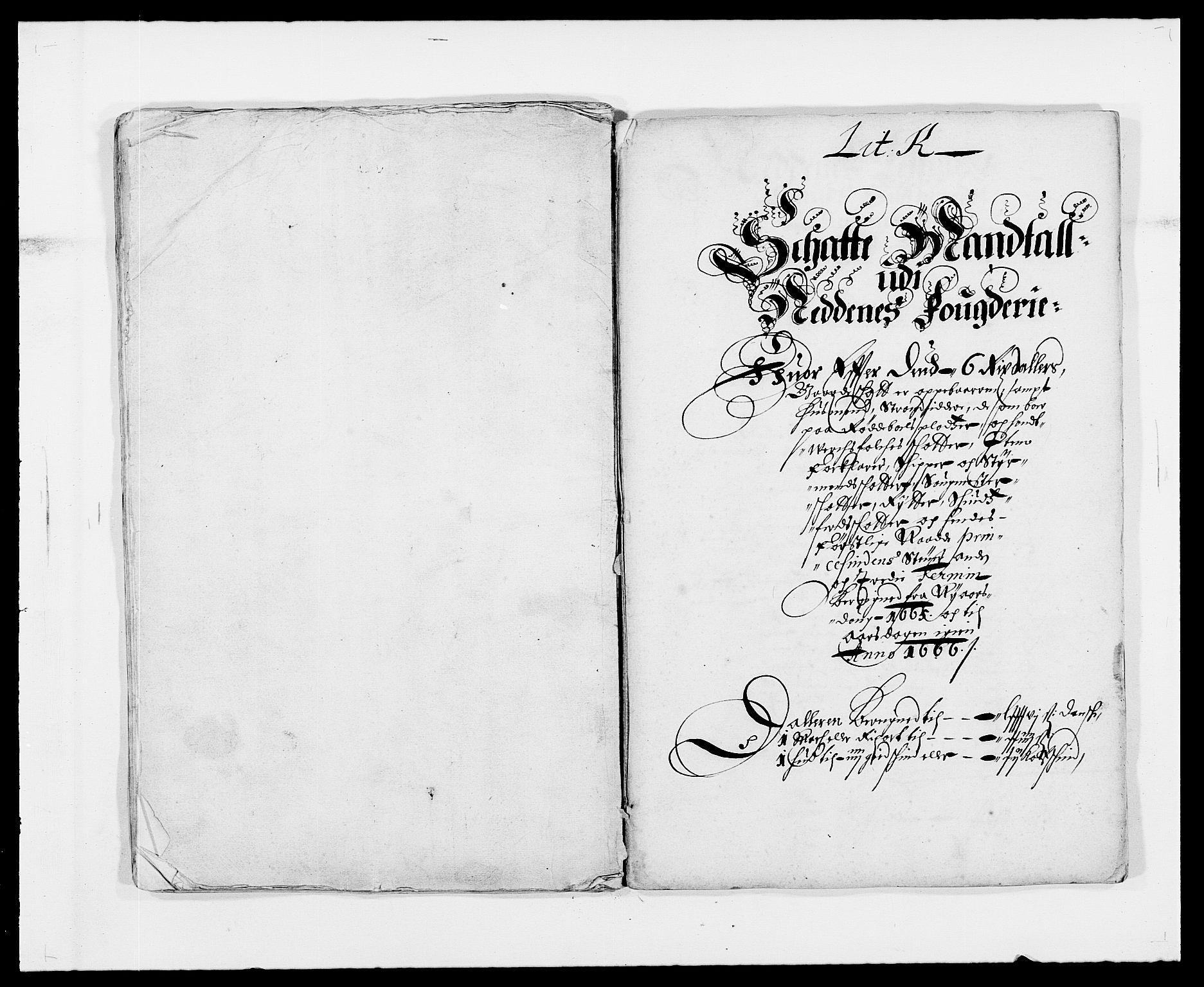 RA, Rentekammeret inntil 1814, Reviderte regnskaper, Fogderegnskap, R39/L2296: Fogderegnskap Nedenes, 1664-1666, s. 153
